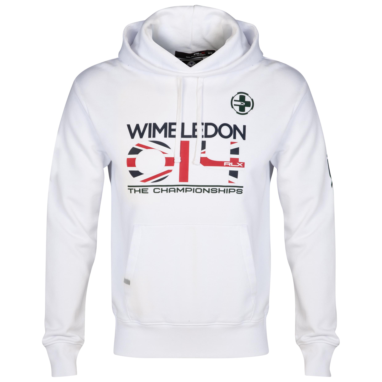 Wimbledon Polo Ralph Lauren Dated Fleece Hoody - Pure White