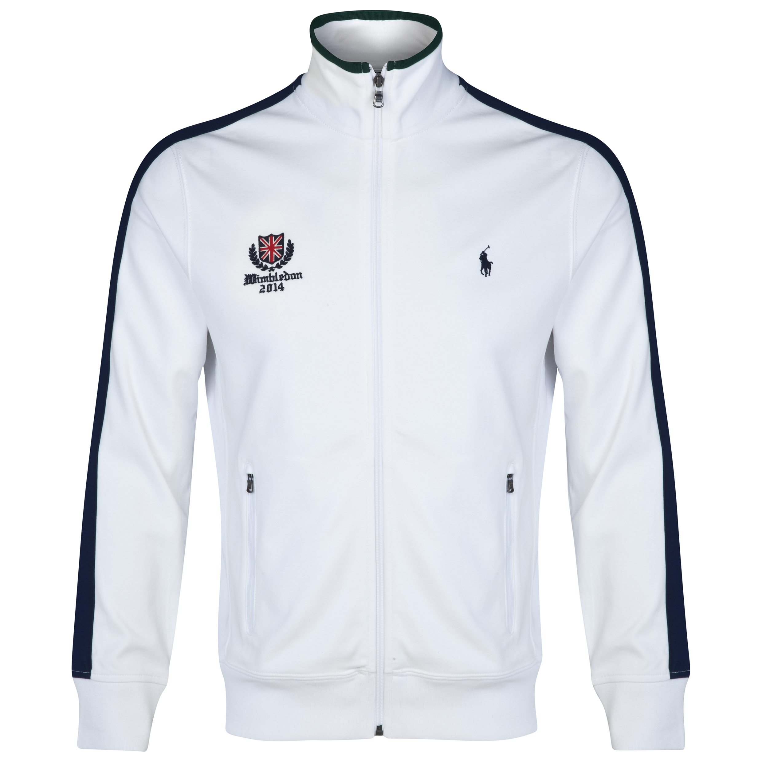 Wimbledon Polo Ralph Lauren Track Jacket - Classic Oxford White