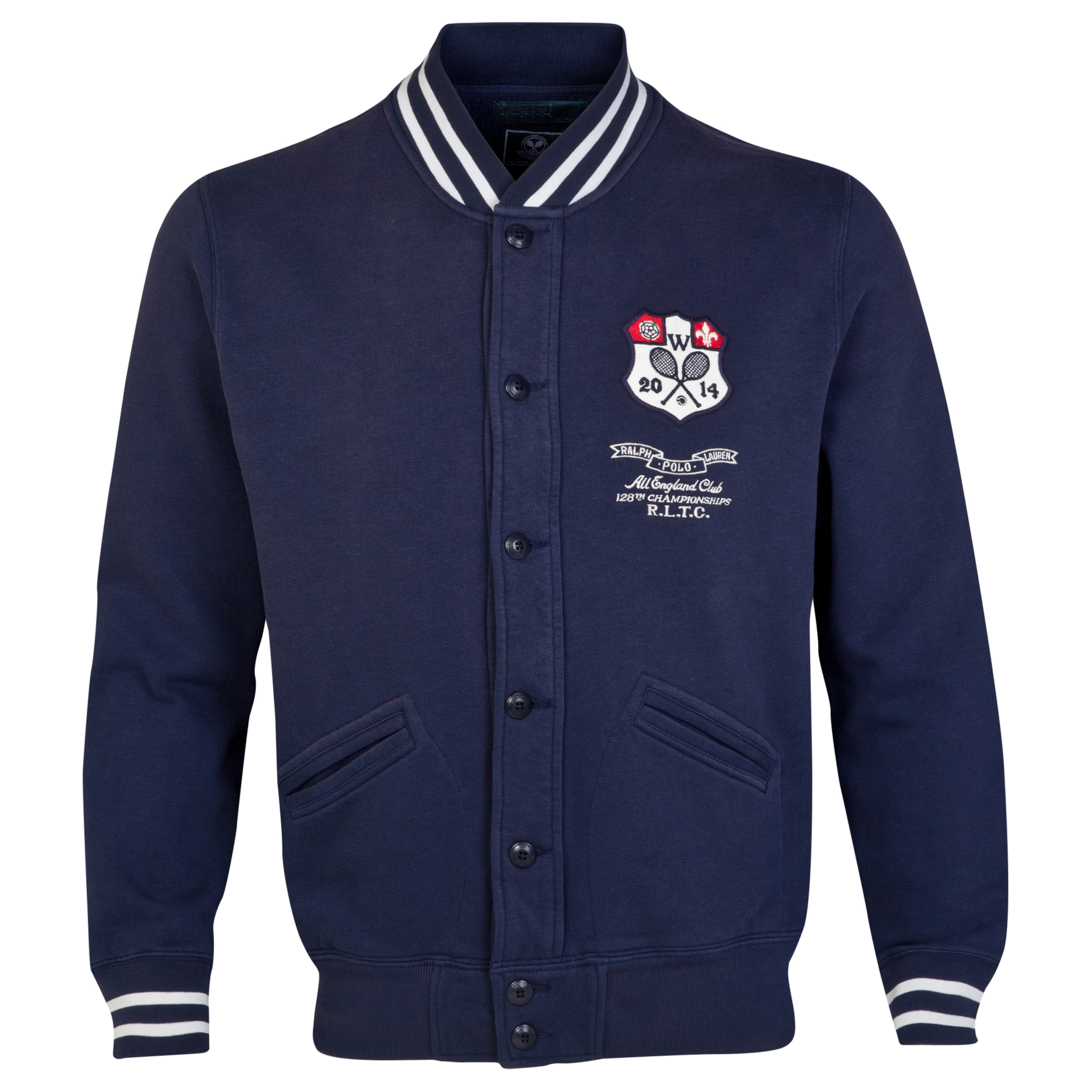 Wimbledon Polo Ralph Lauren Baseball Jacket French Navy