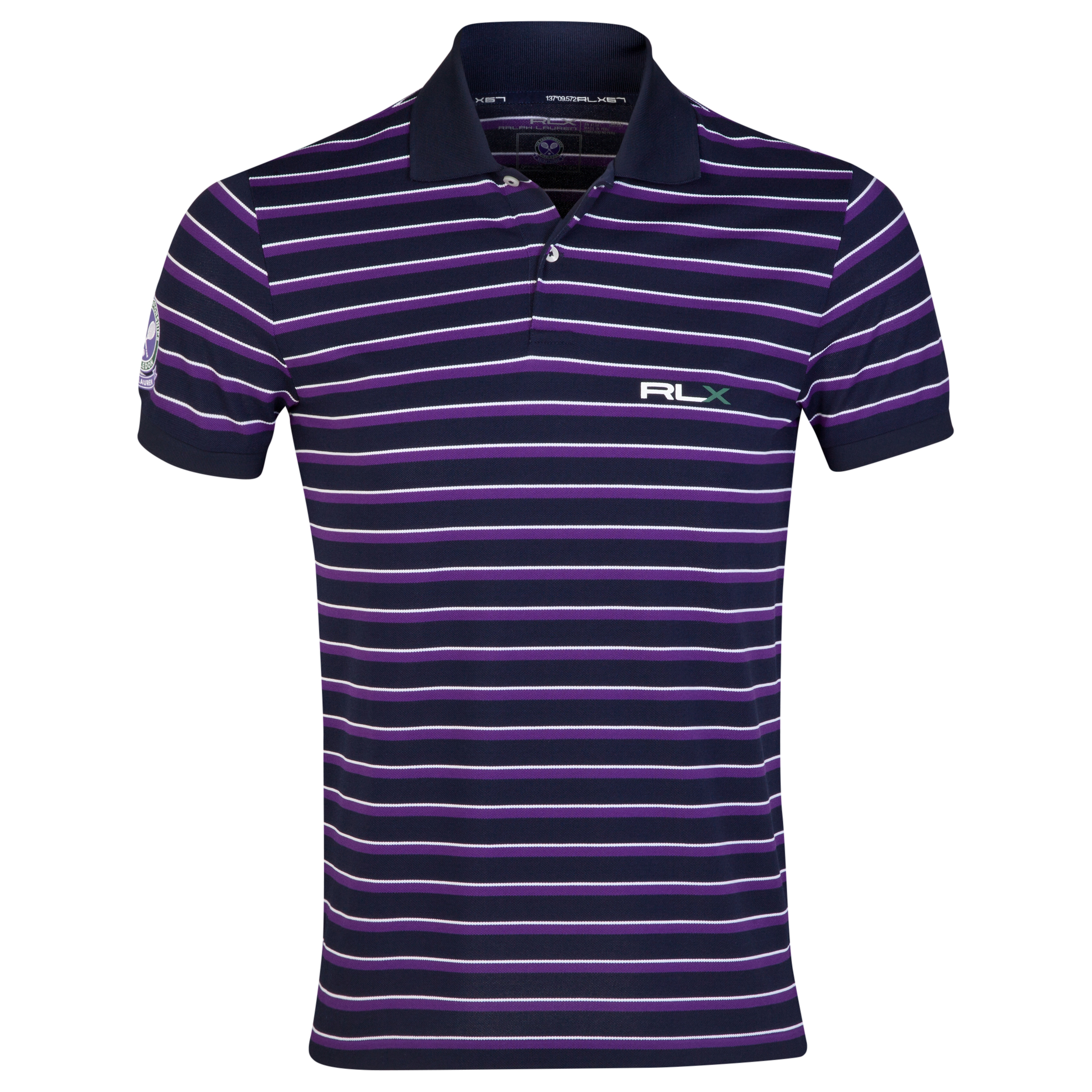 Wimbledon Polo Ralph Lauren Pima Stretch RLXTech Polo - French Navy/Multi