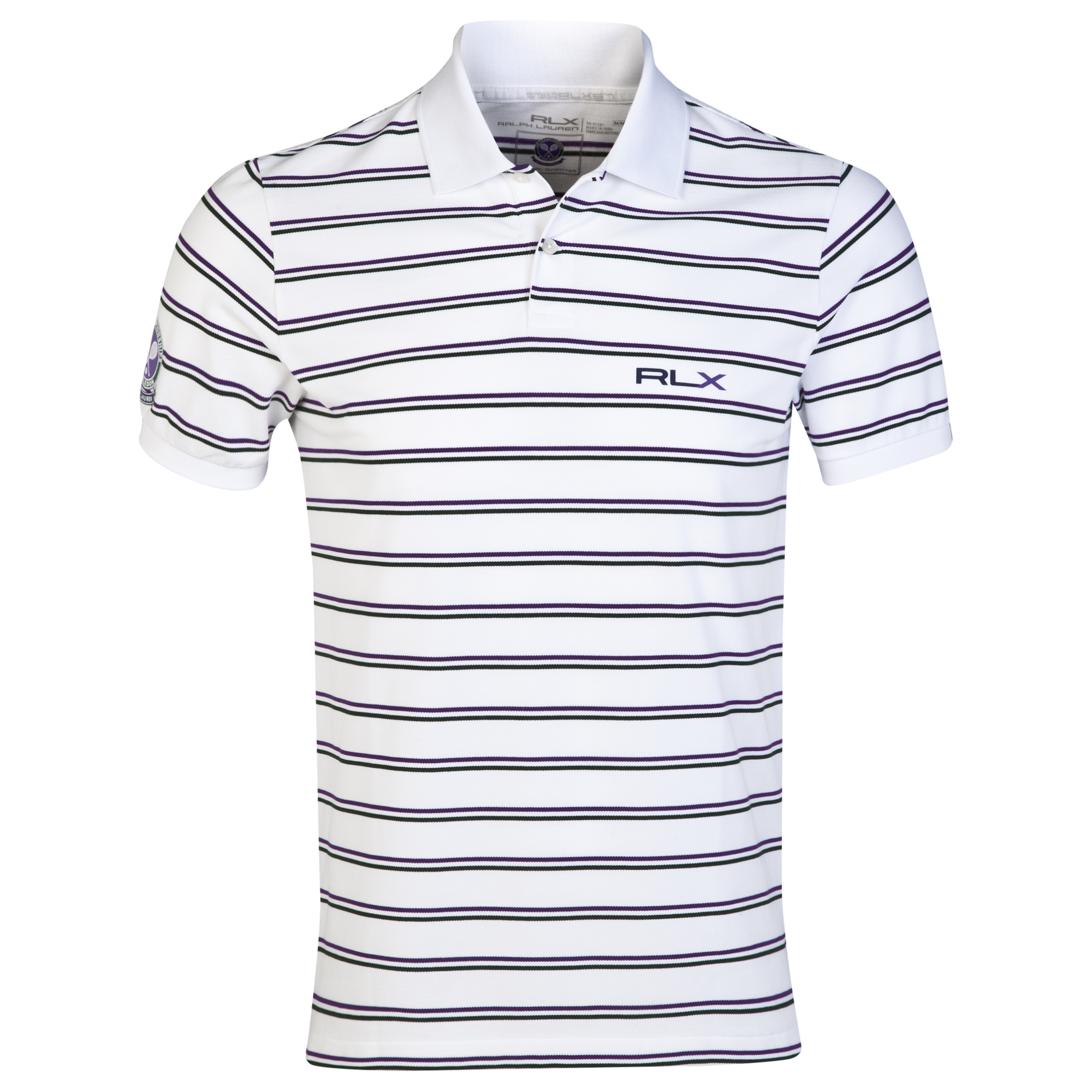 Wimbledon Polo Ralph Lauren Pima Stretch RLXTech Polo - Pure White/Multi
