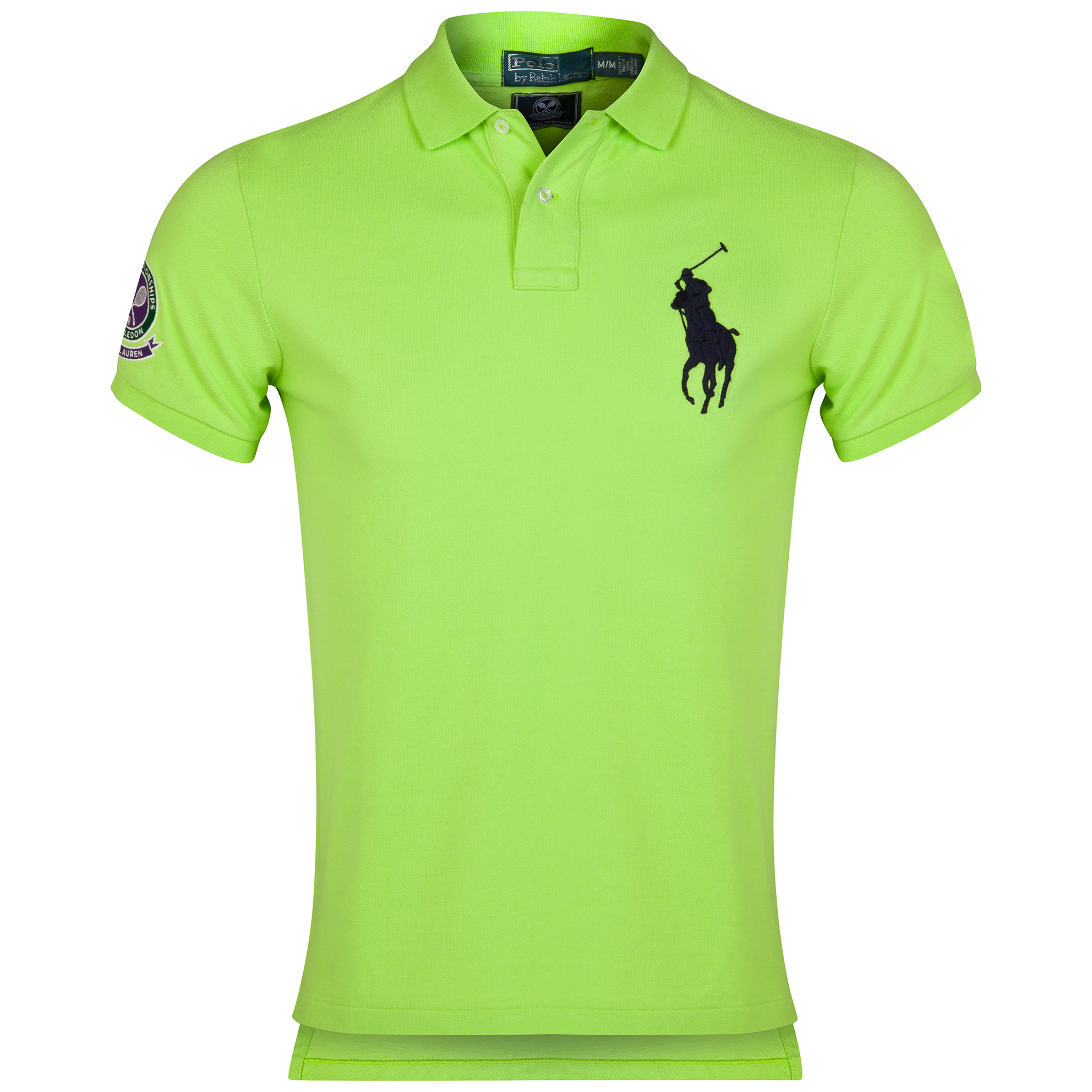 Wimbledon Polo Ralph Lauren Custom Fit Basic Mesh Polo - Marathon Green