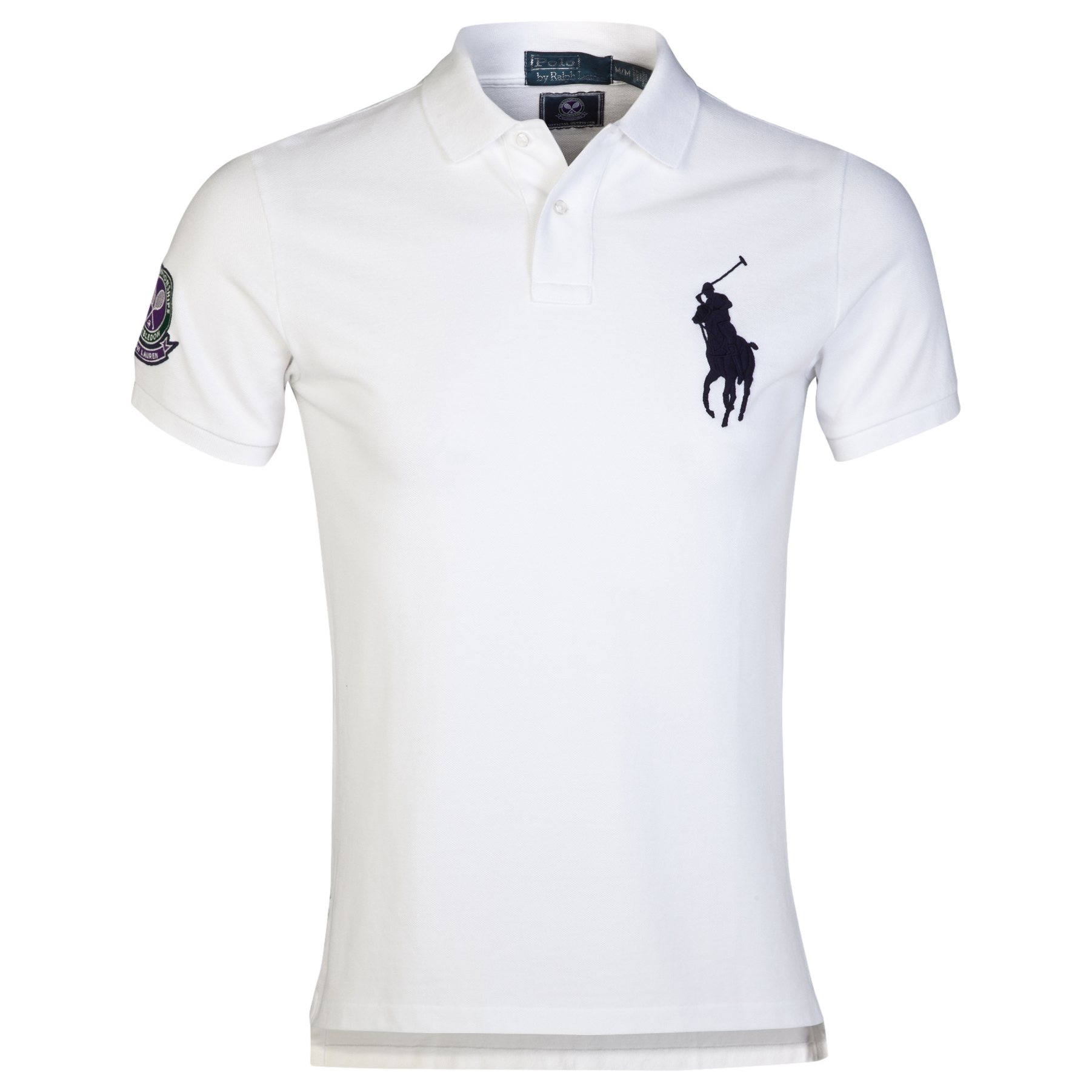 Wimbledon Polo Ralph Lauren Custom Fit Basic Mesh Polo White