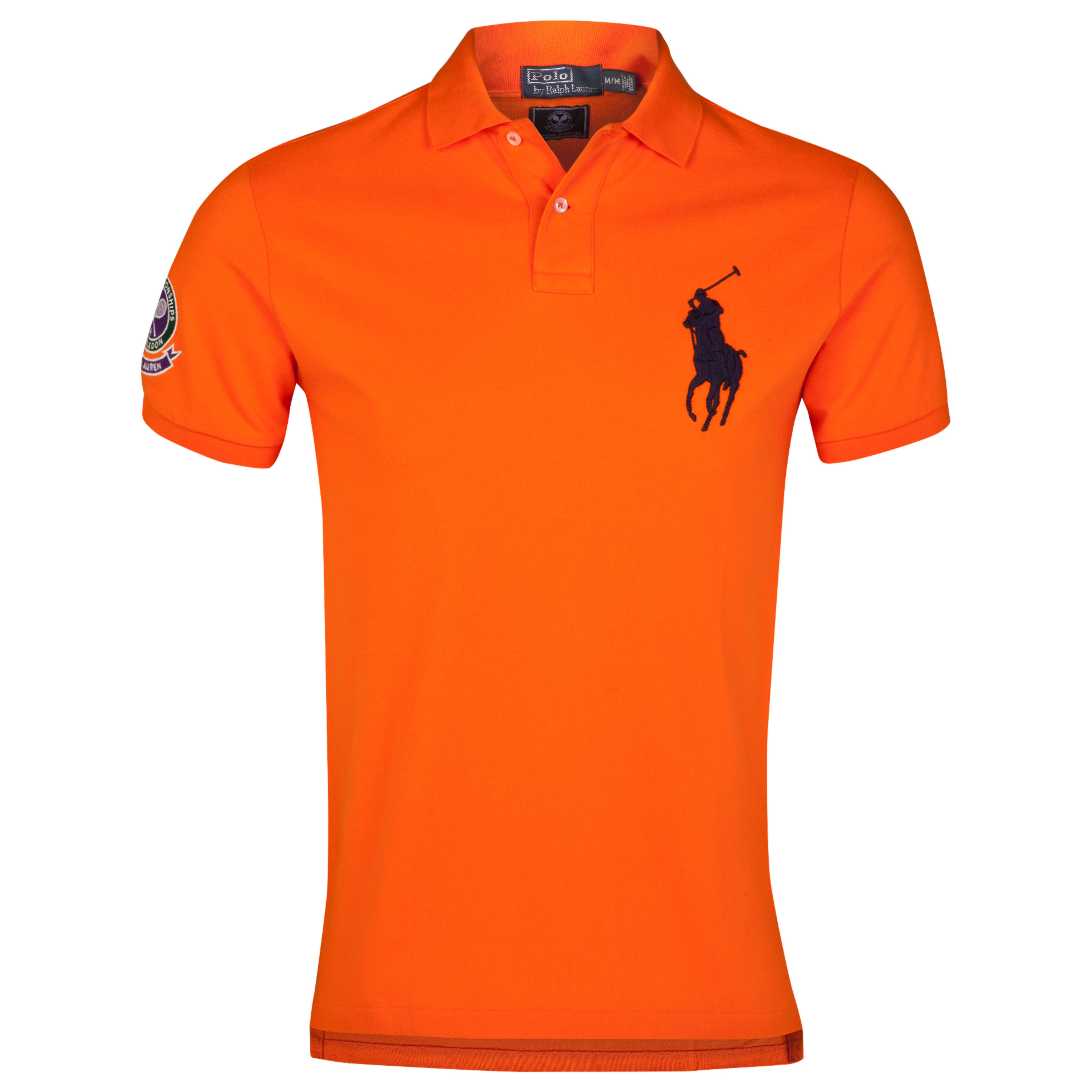 Wimbledon Polo Ralph Lauren Custom Fit Basic Mesh Polo - Nautical Orange