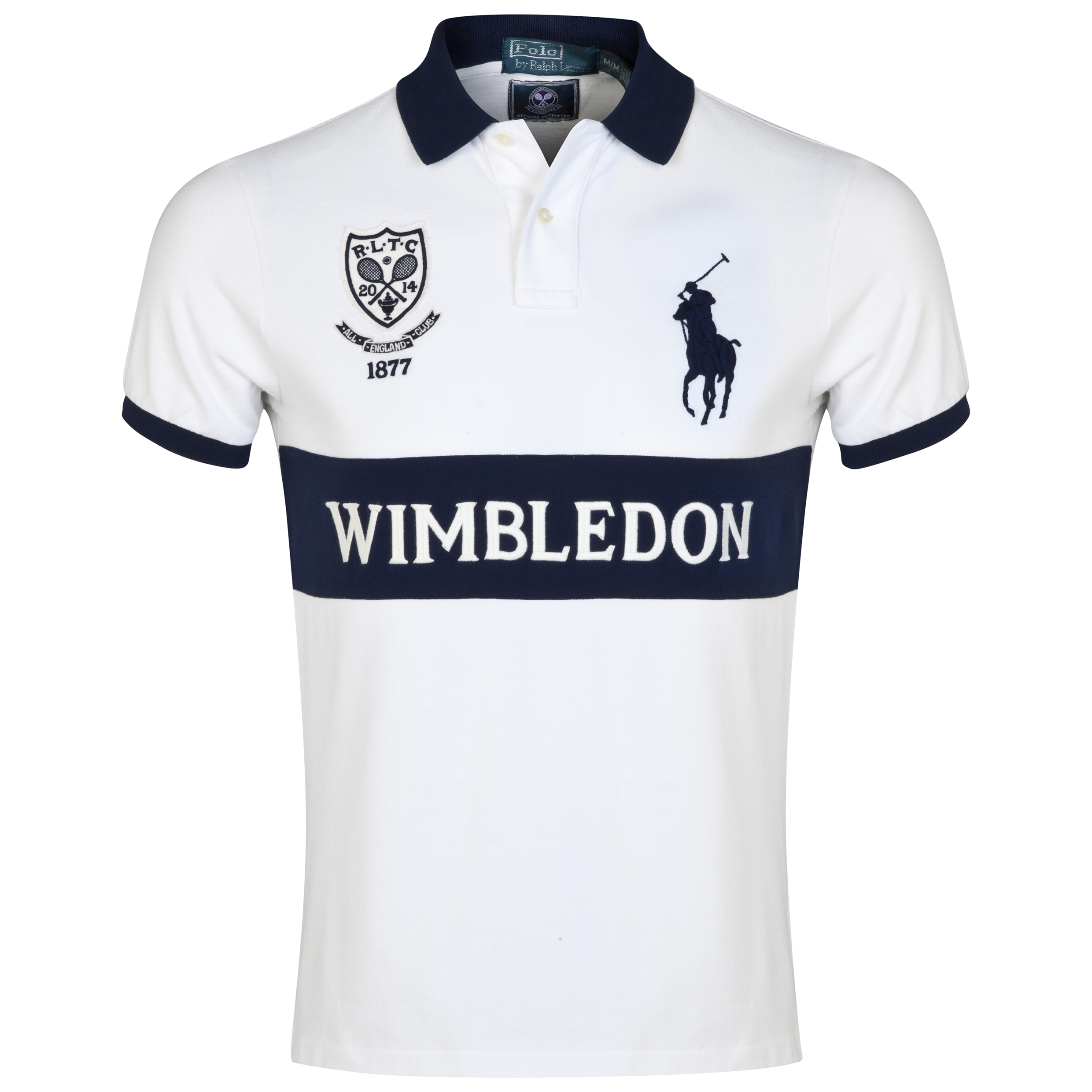 Wimbledon Polo Ralph Lauren Custom Fit Basic Mesh Polo - Classic Oxford White