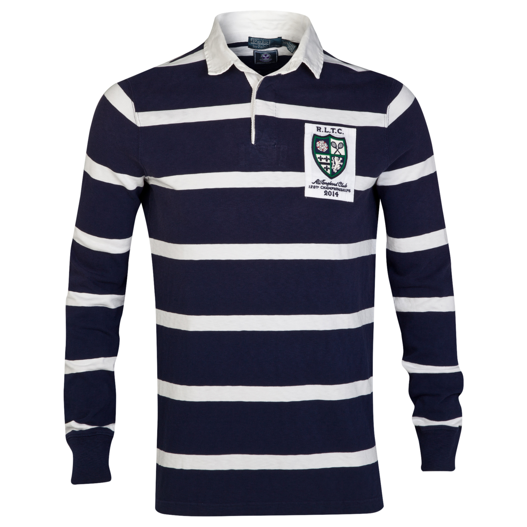 Wimbledon Polo Ralph Lauren Antique Rubgy Jersey - French Navy/Deckwash White