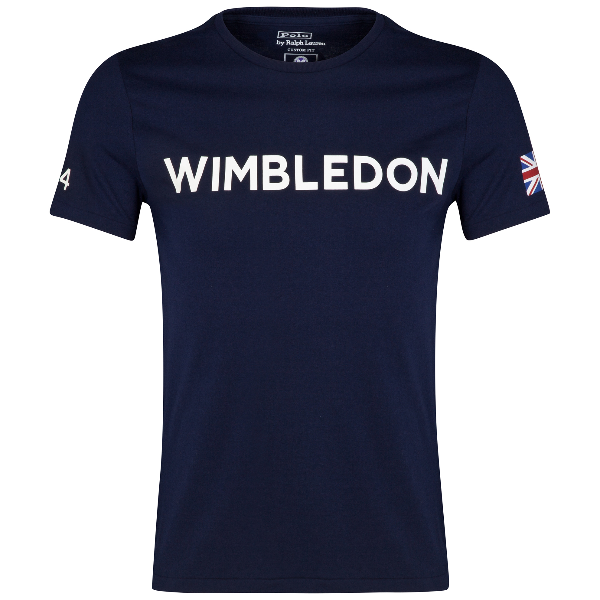 Wimbledon Polo Ralph Lauren Print T-Shirt - French Navy