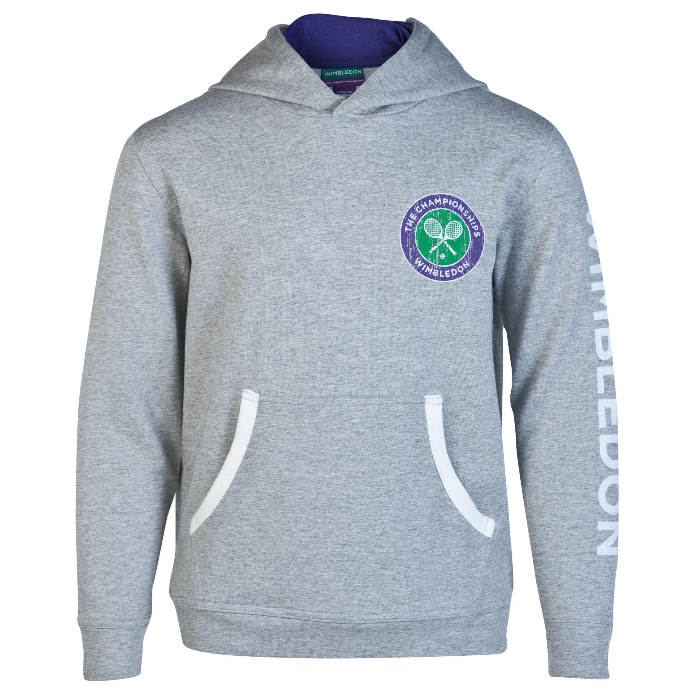 Wimbledon Logo Hoody - Kids Grey
