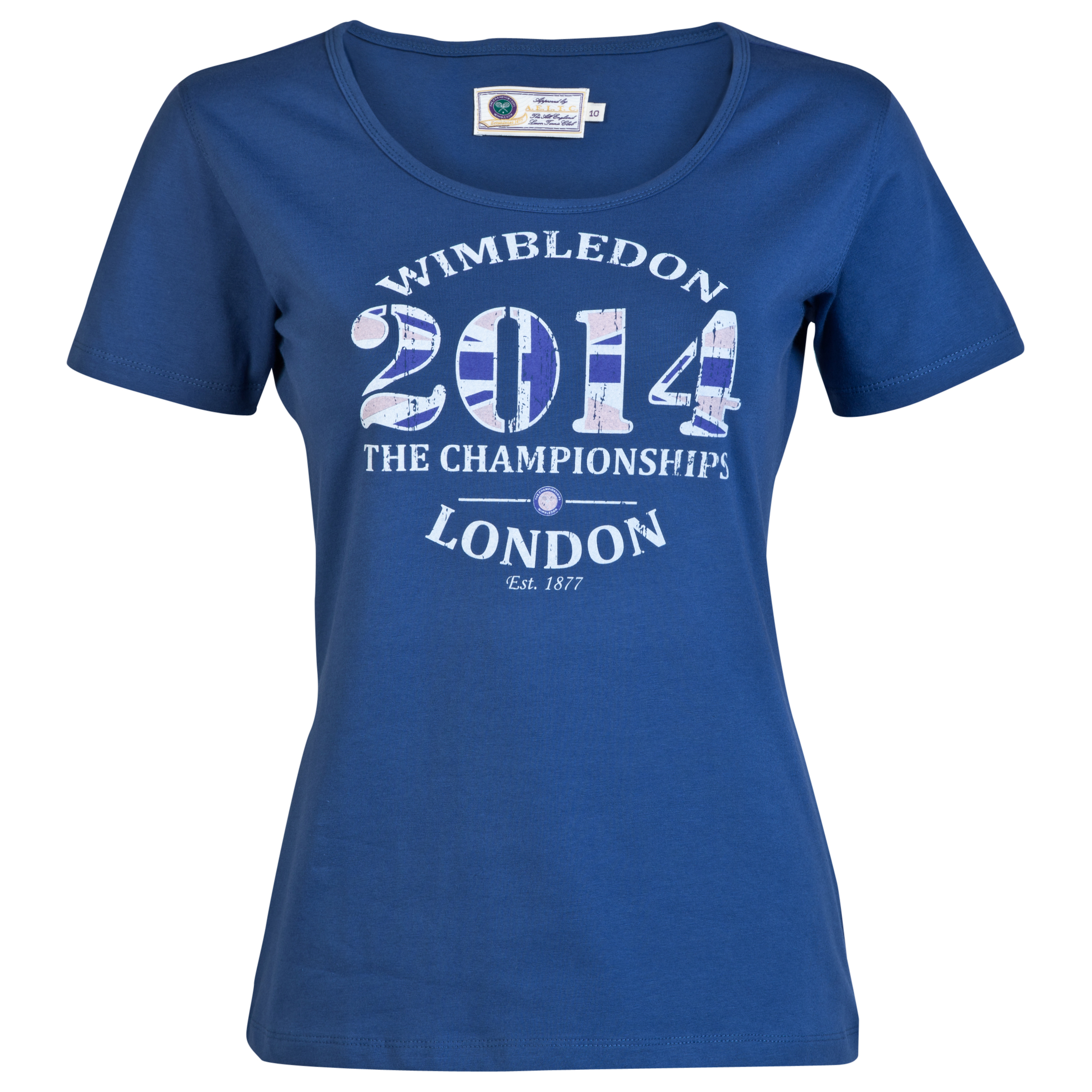 Wimbledon 2014 Print T-Shirt - Womens Blue