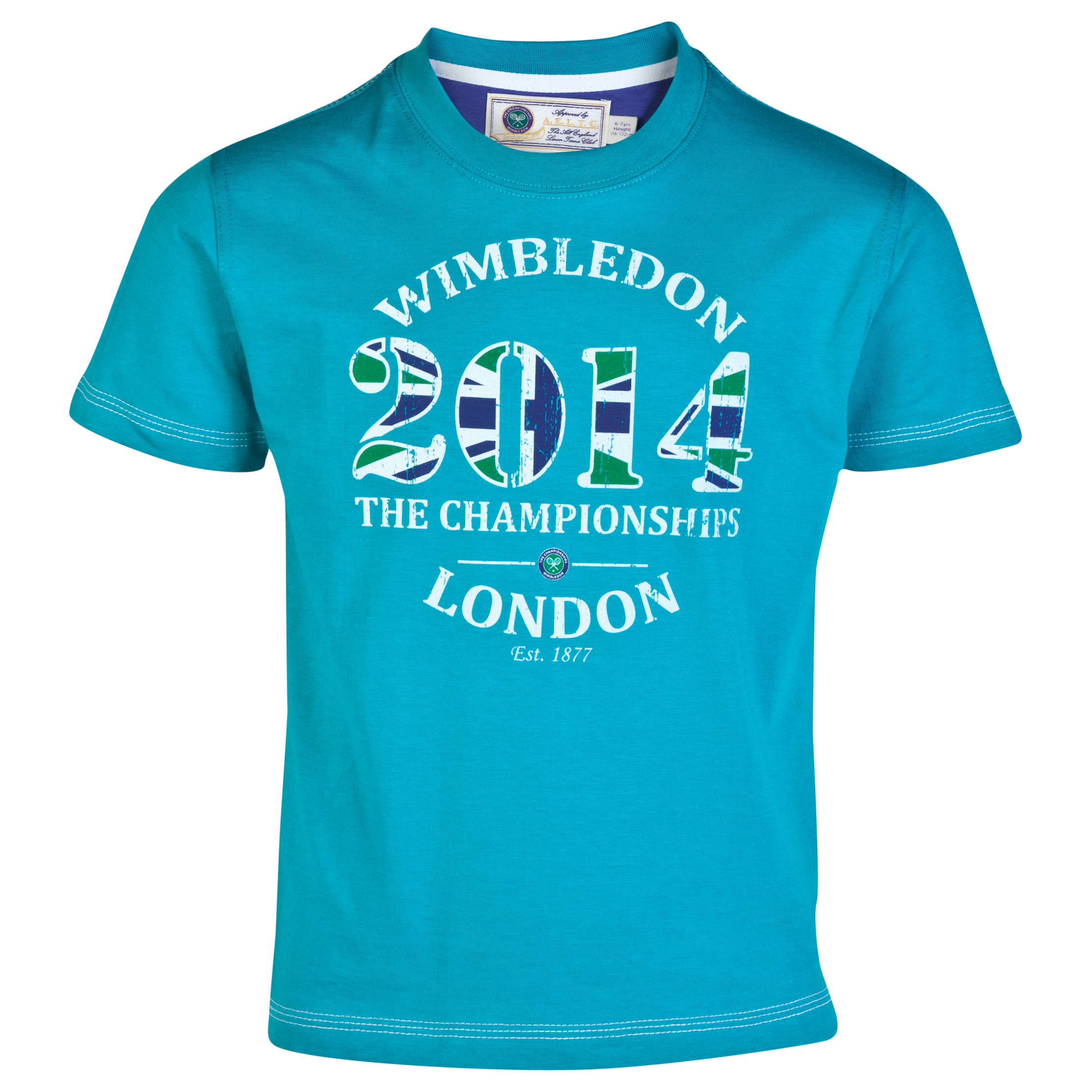 Wimbledon 2014 Print T-Shirt - Boys Green