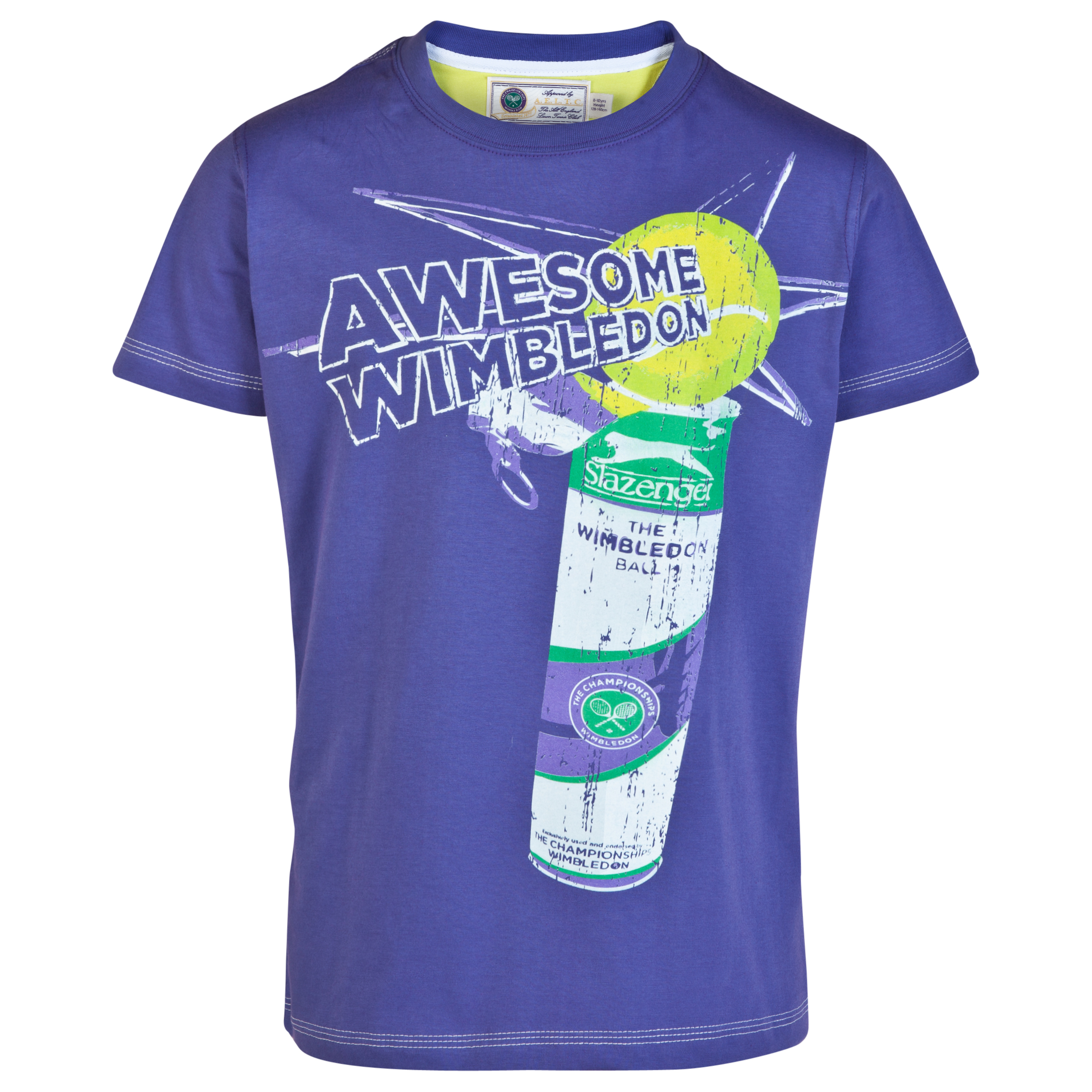 Wimbledon Tennis Ball Can T-Shirt - Boys Purple