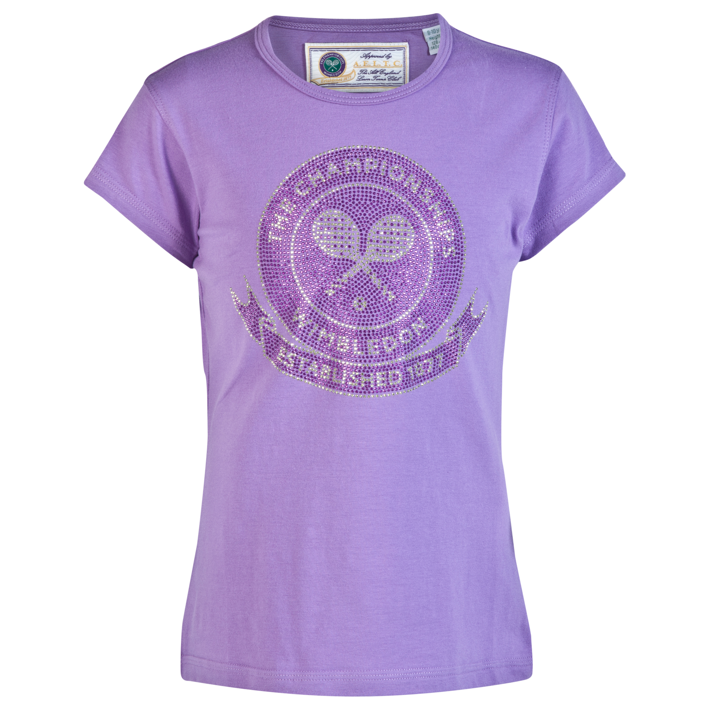 Wimbledon Rhinestone T-Shirt - Girls