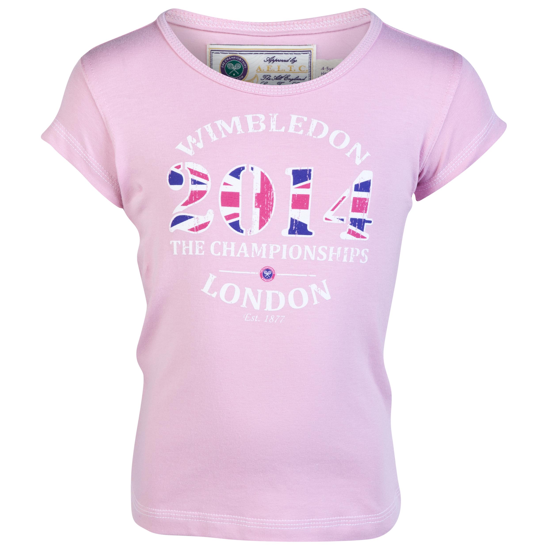 Wimbledon 2014 Print T-Shirt - Girls Pink