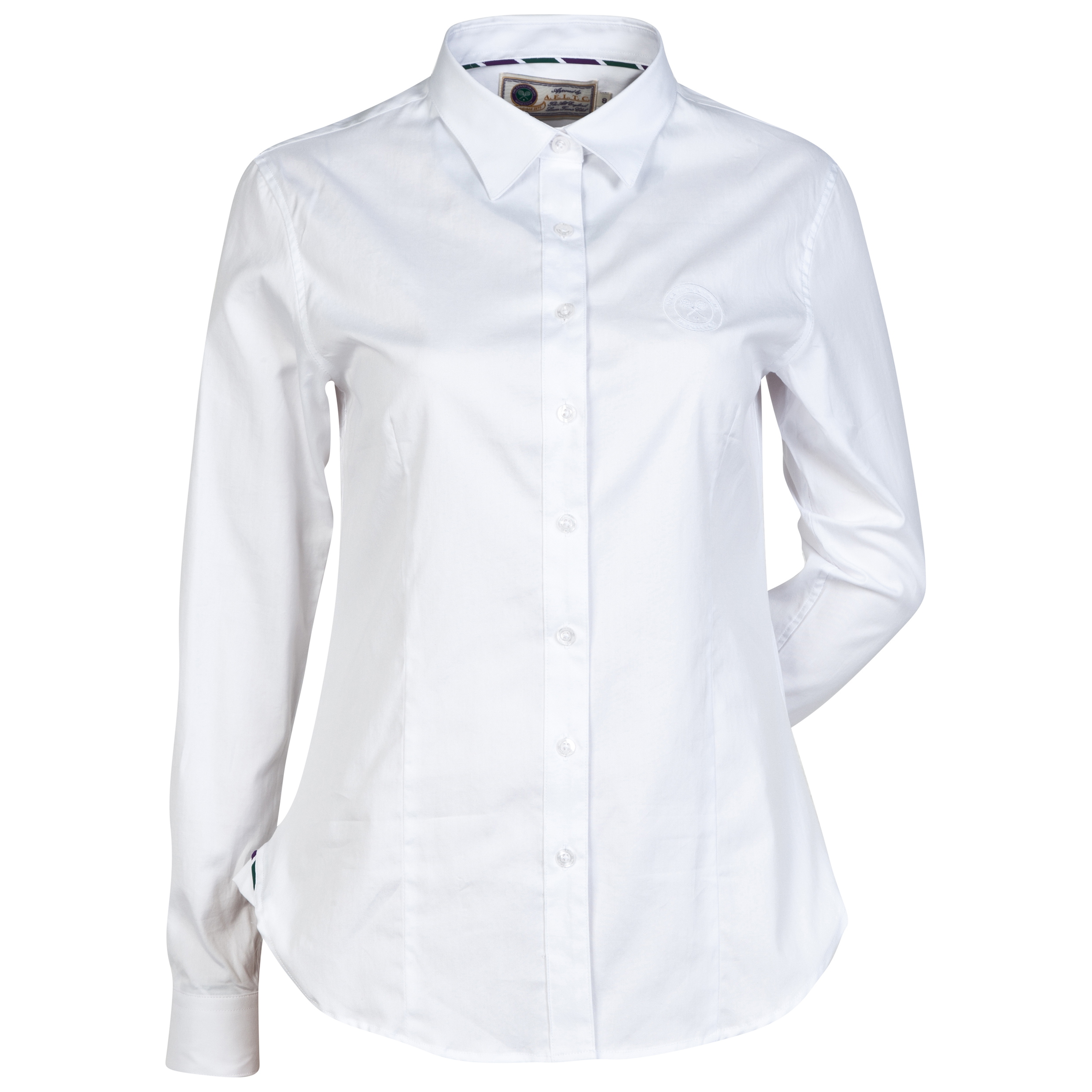 Wimbledon Slim Fit Tailored Shirt - Womens White