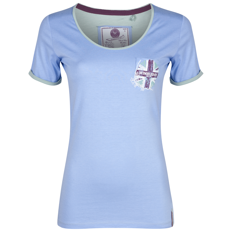 Wimbledon Union Jack Print T-Shirt - Womens