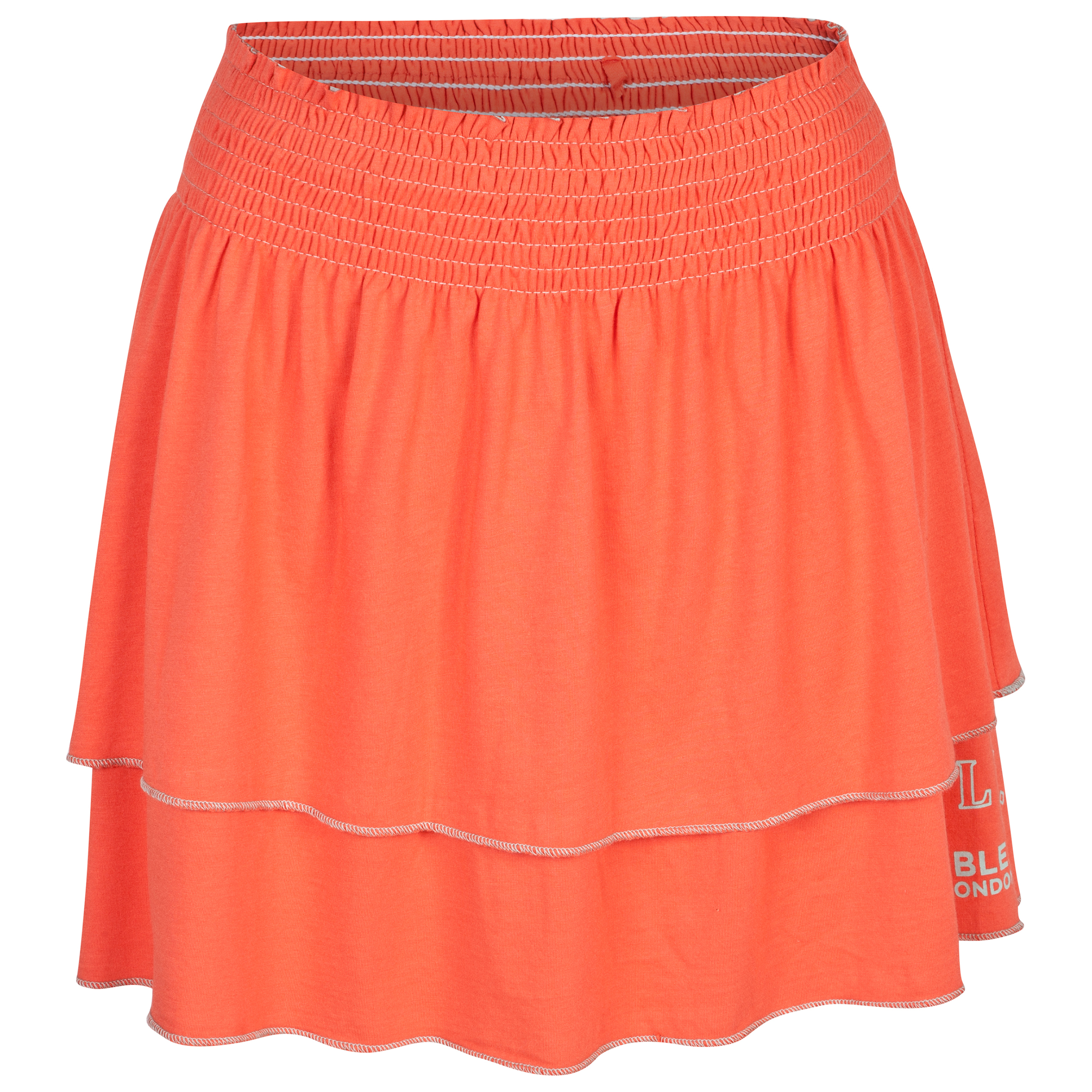Wimbledon Layered Skirt With Shirred Waist