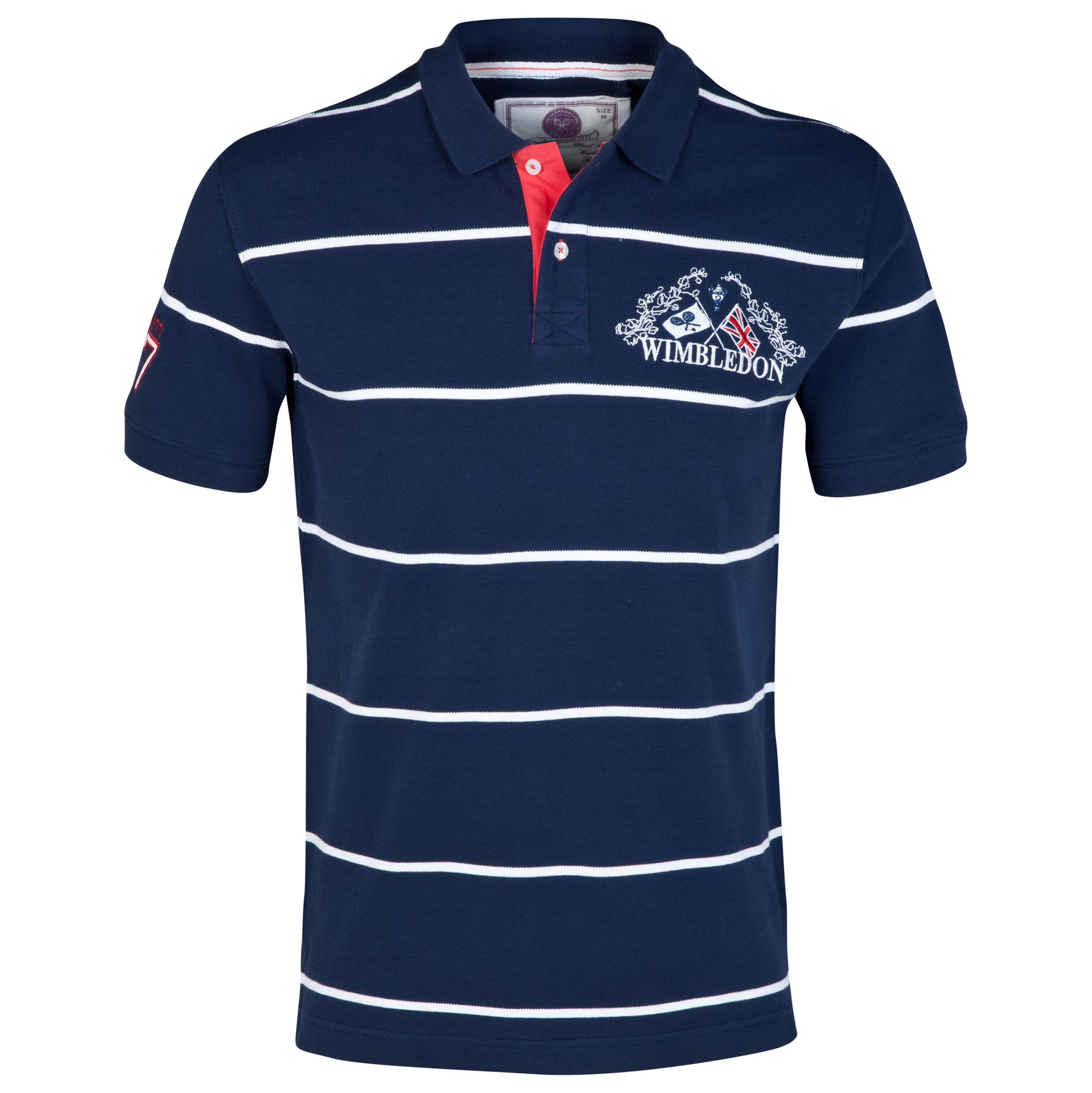 Wimbledon Jacquard Stripe Polo Shirt