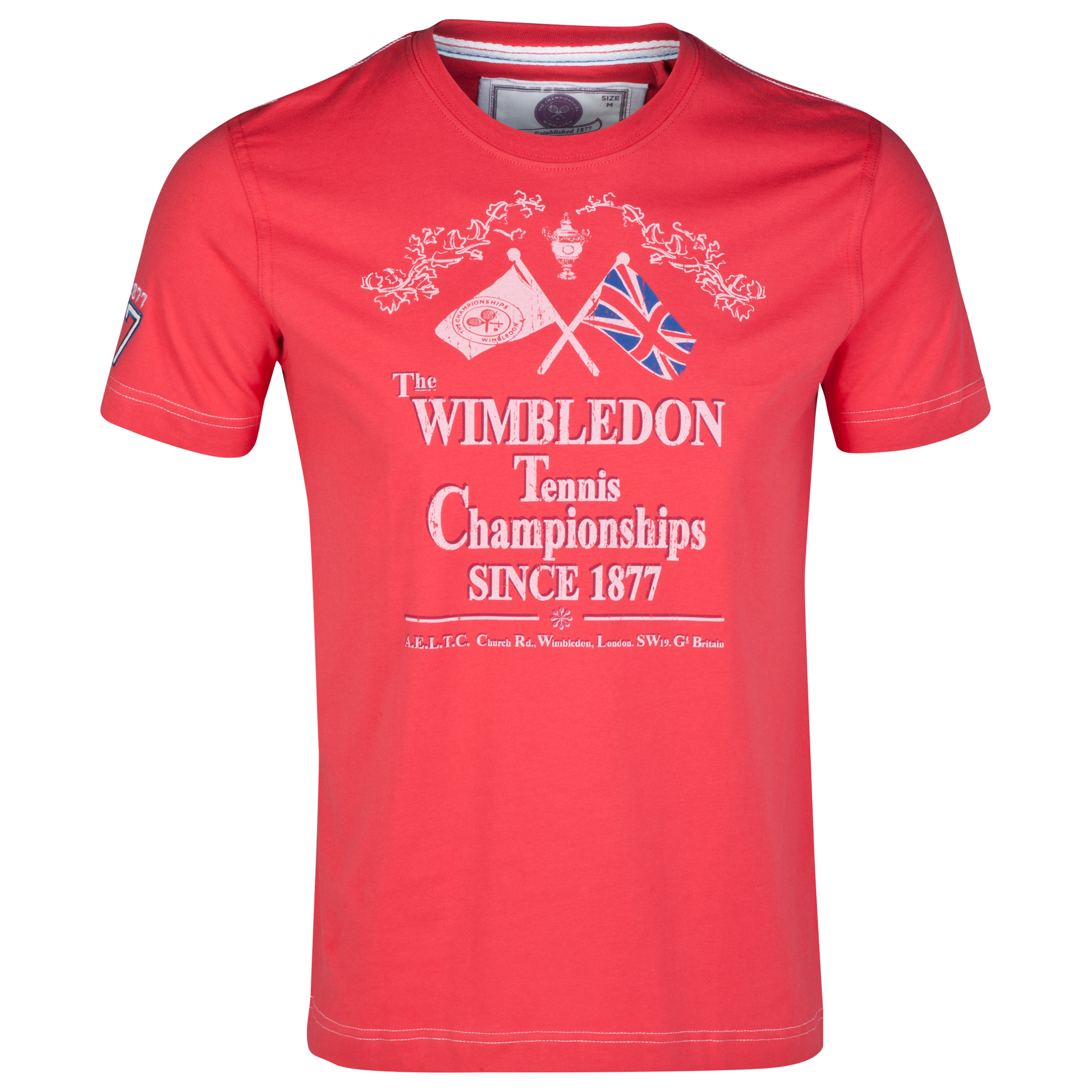 Wimbledon Flag Print T-Shirt Red