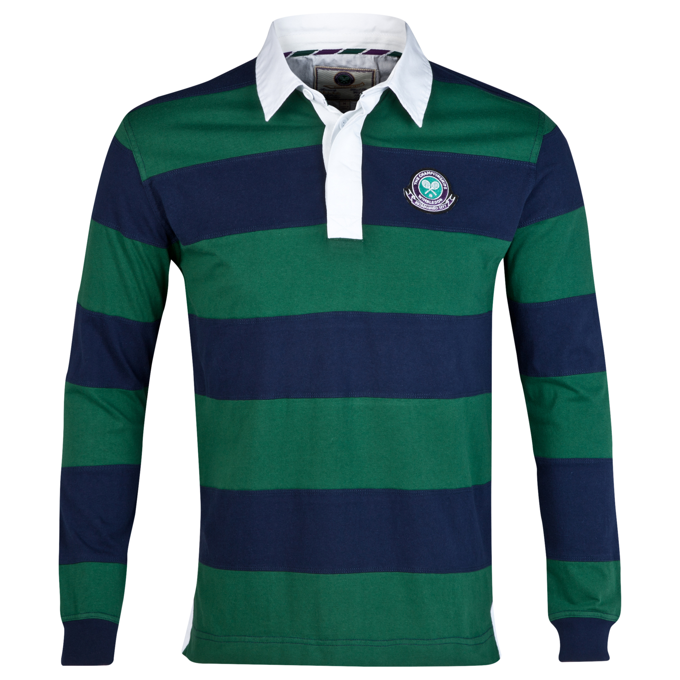 Wimbledon Long Sleeve Stripe Rugby Shirt