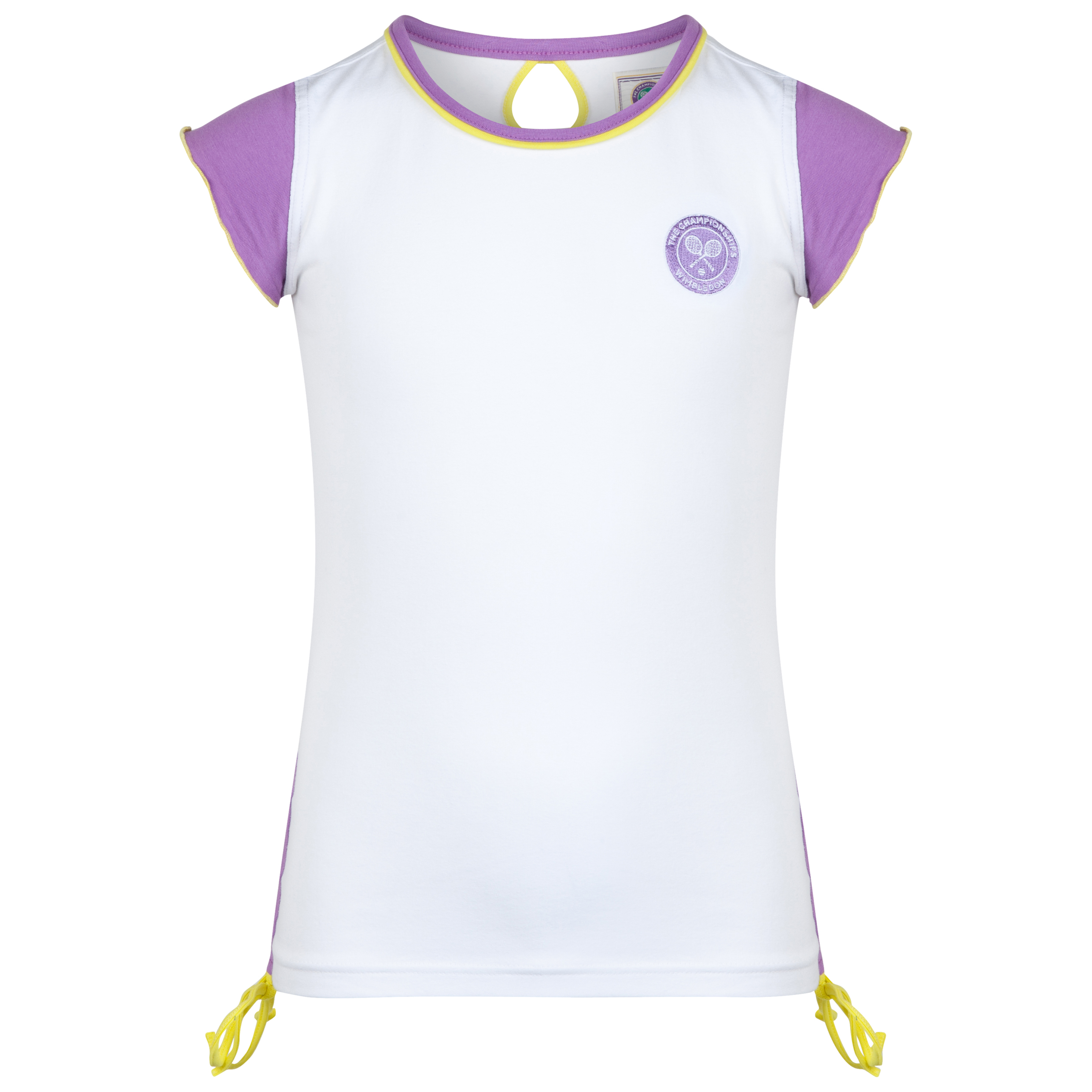 Wimbledon Capped Sleeve T-Shirt - Girls White