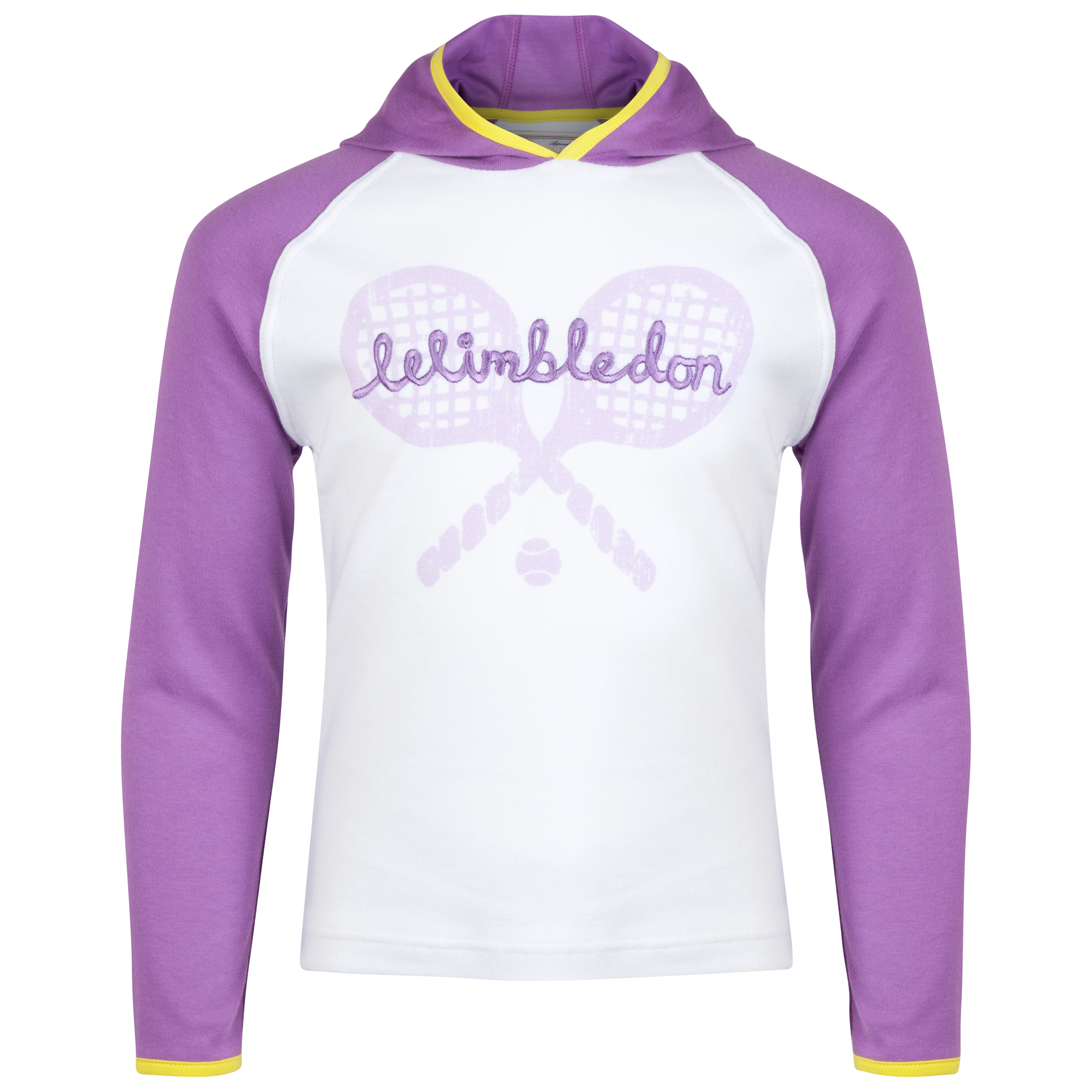 Wimbledon Printed Rackets Hoody - Girls