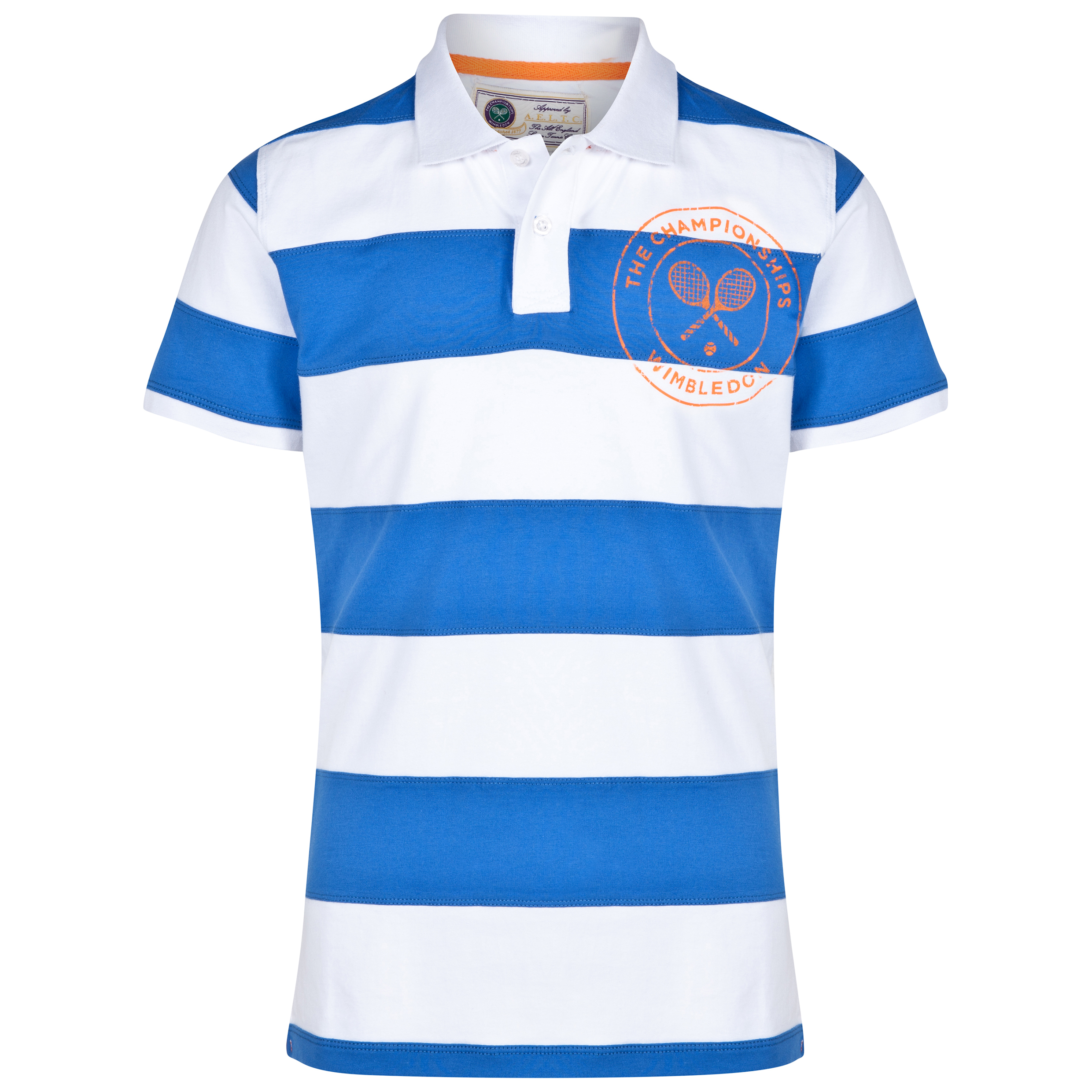 Wimbledon Block Stripe Polo Shirt - Boys