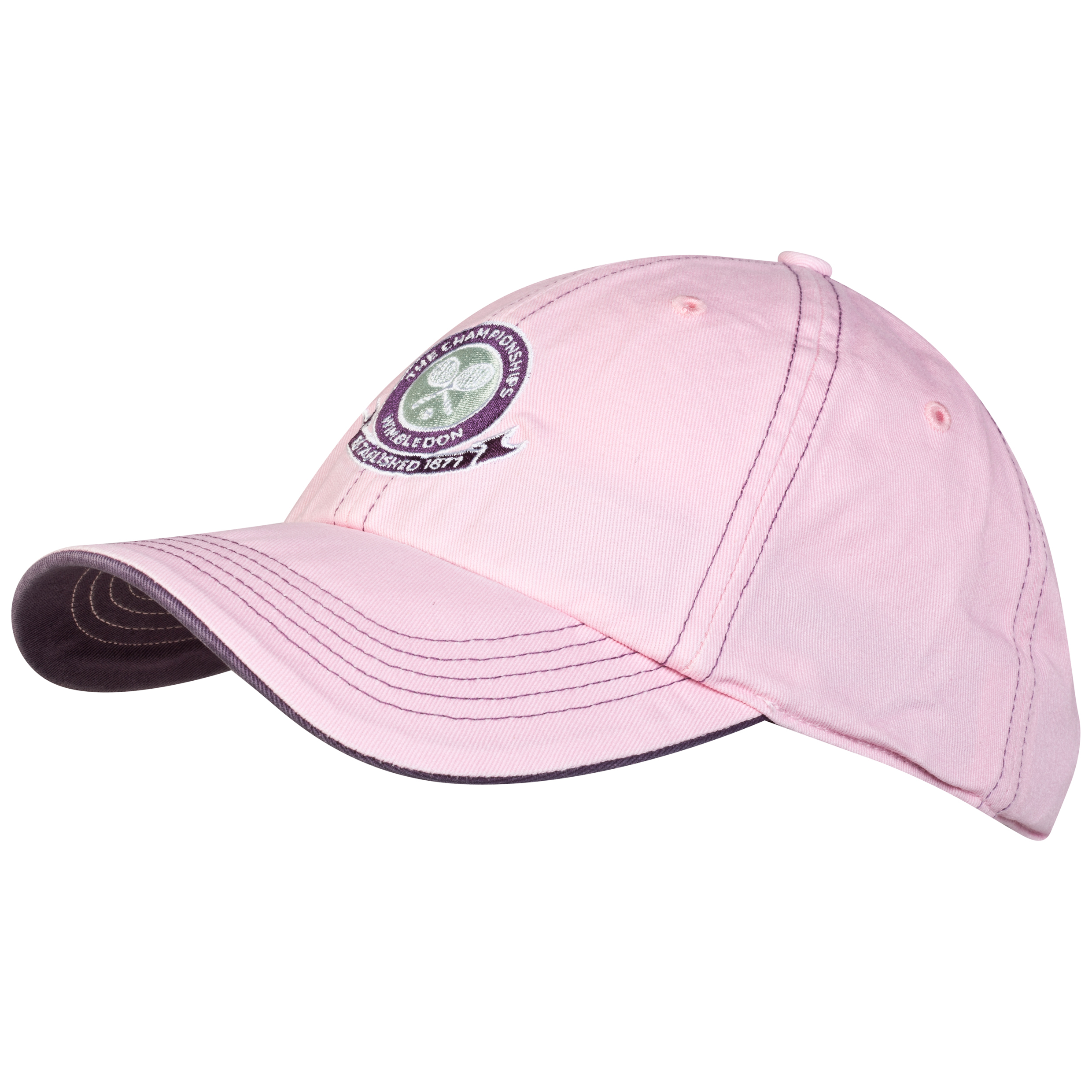 Wimbledon Logo Embroidered Cap - Ladies - Light Pink