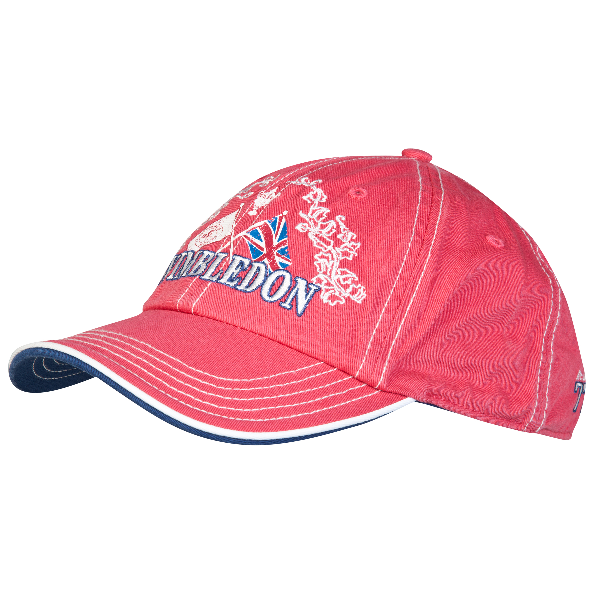 Wimbledon Flag Print Cap Red