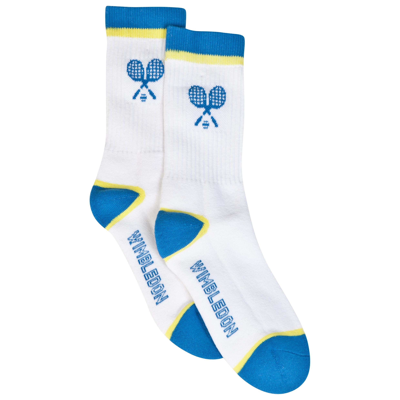 Wimbledon Tennis Socks - Kids White