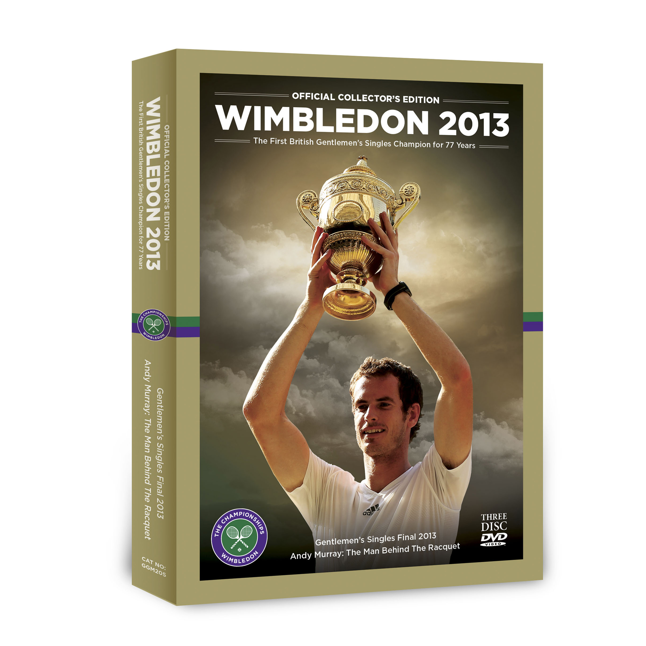 Wimbledon 2013 Official Collector`s Edition 3x DVD Boxset - Mens Final 2013 & Andy Murray: The Man Behind the Racket
