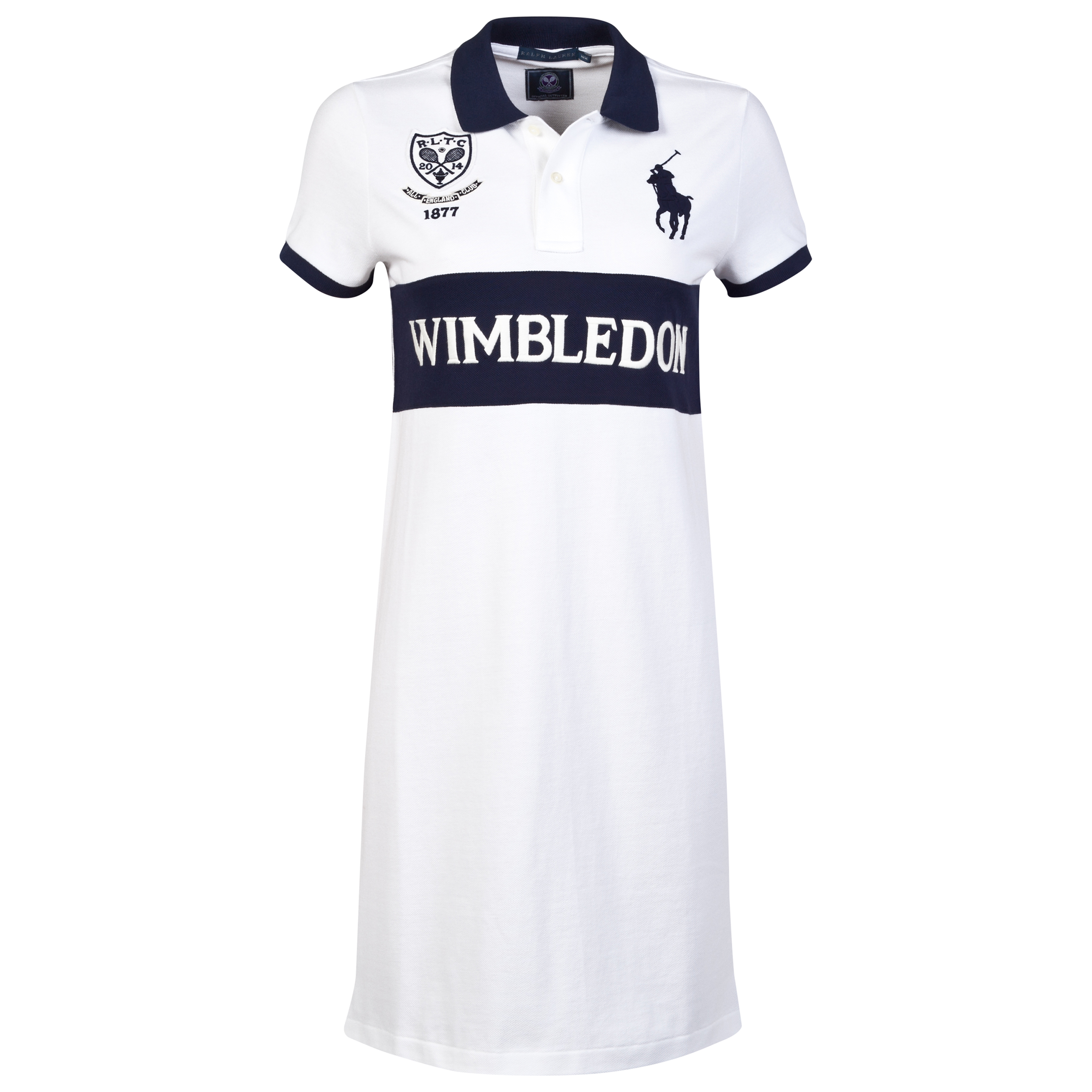 Wimbledon Ralph Lauren Wimbledon Laurie Polo Dress - Womens White