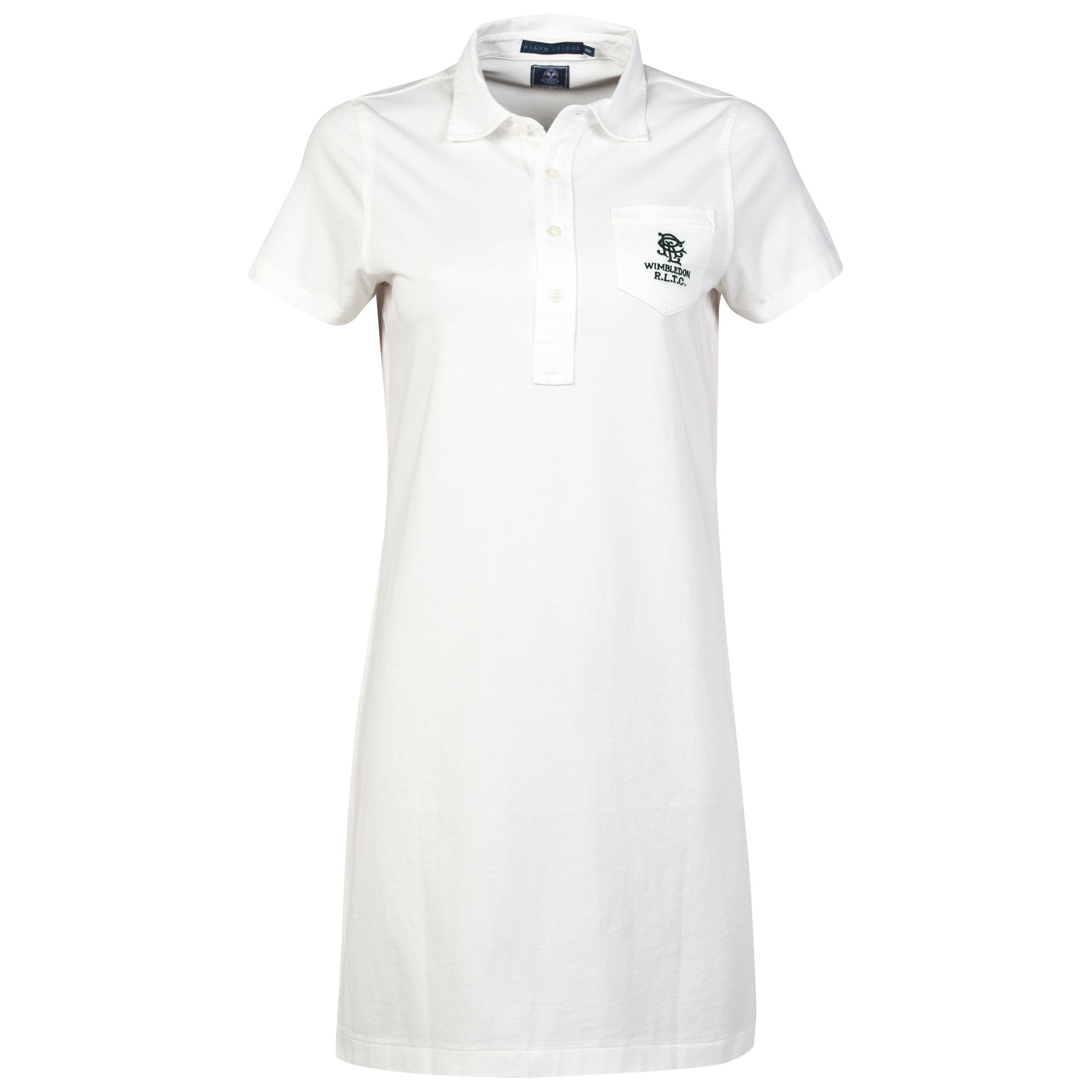 Wimbledon Ralph Lauren Wimbledon Midny Shirt Dress - Womens Deckwash White