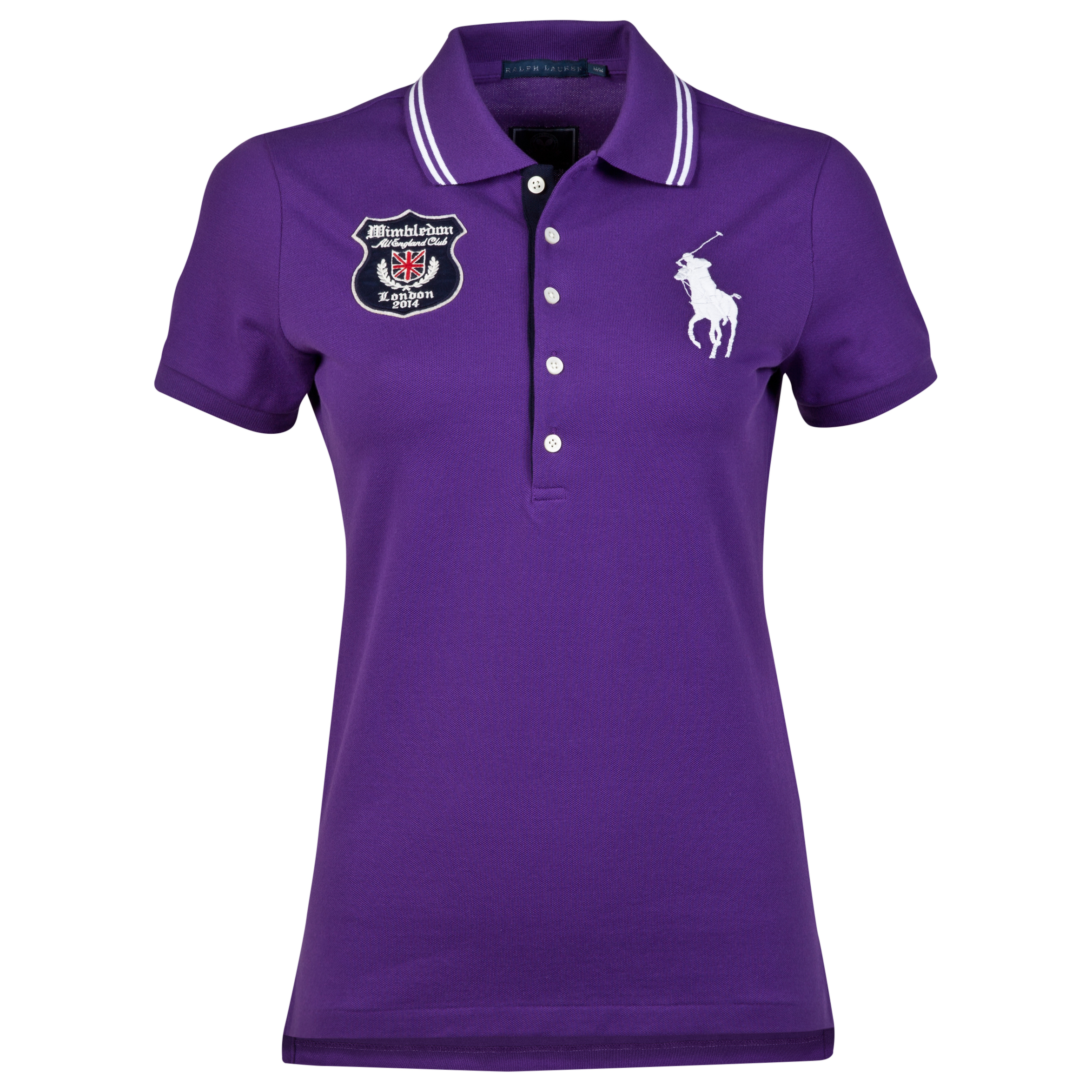 Wimbledon Ralph Lauren Wimbledon Mora Long Placket Polo - Womens Purple