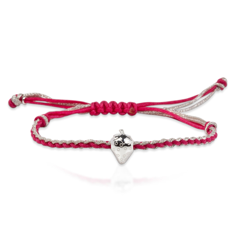 Wimbledon Strawberry Cord Bracelet