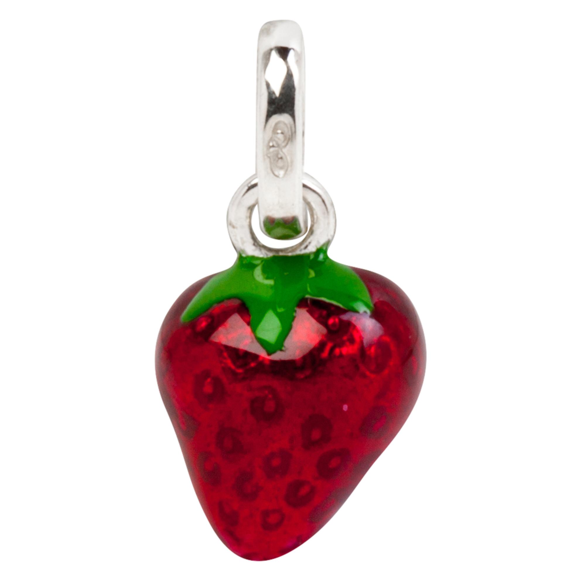 Wimbledon Strawberry Sterling Silver & Enamel Charm