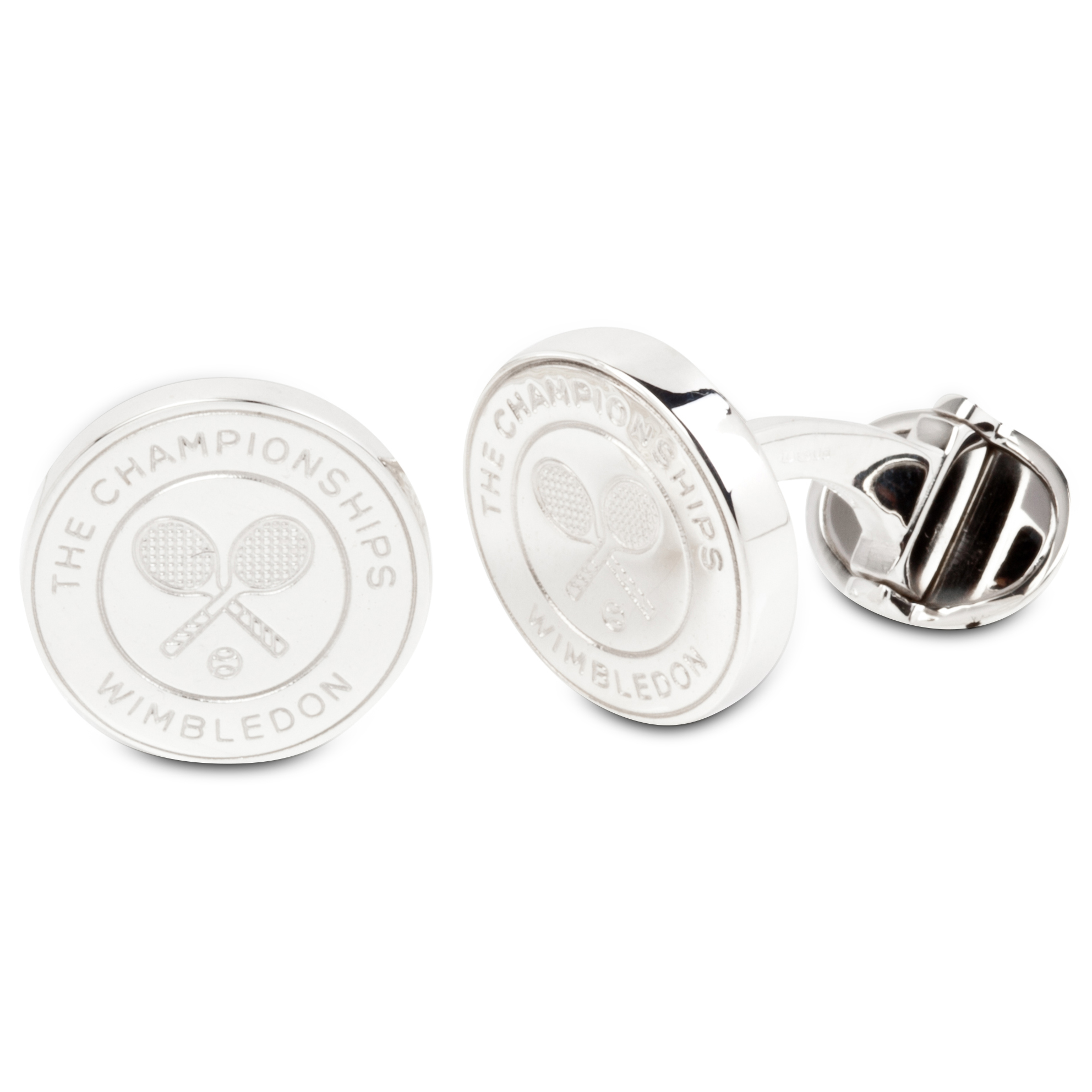 Wimbledon Sterling Silver Cross Racket Cufflinks