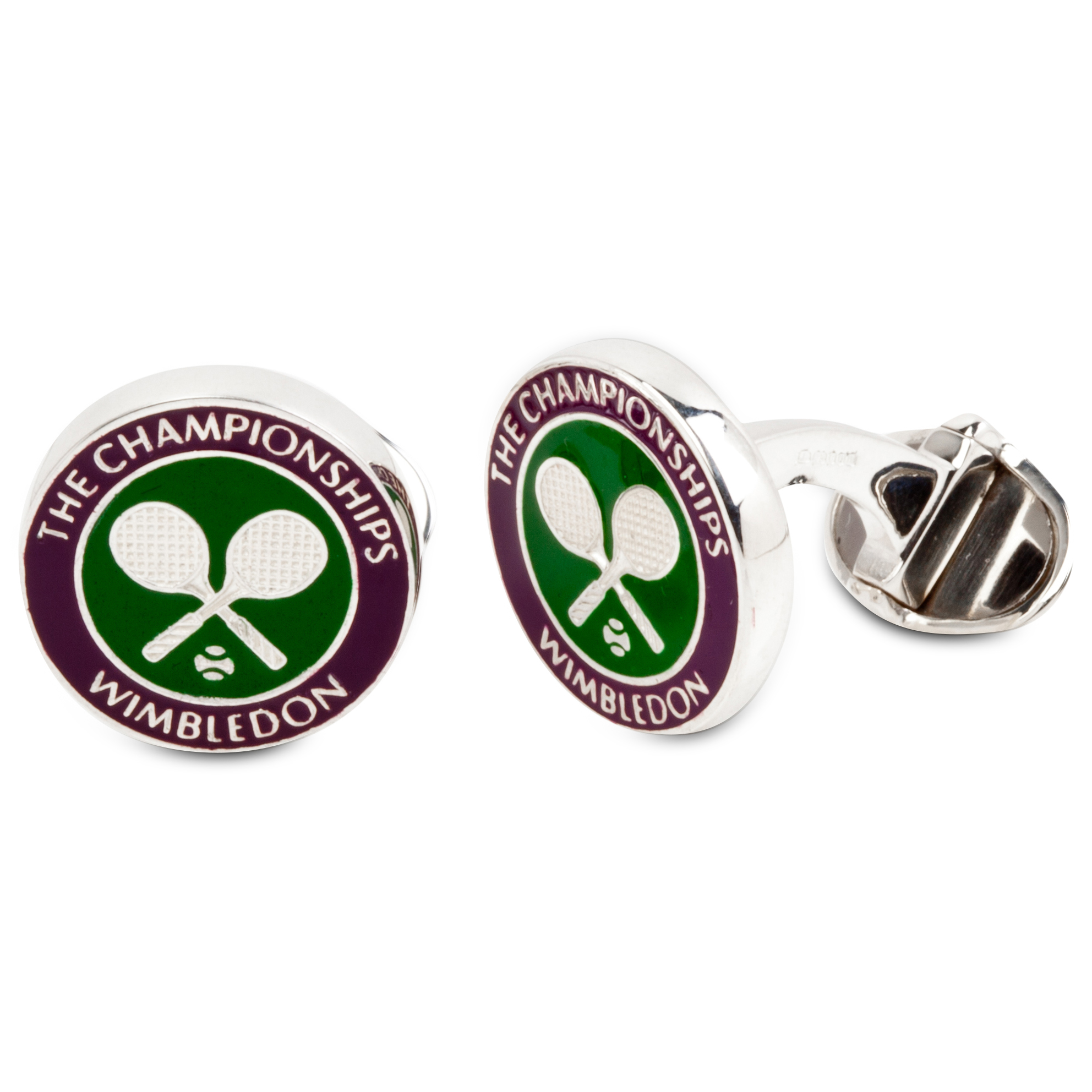 Wimbledon Cross Racket Enamel Cufflinks