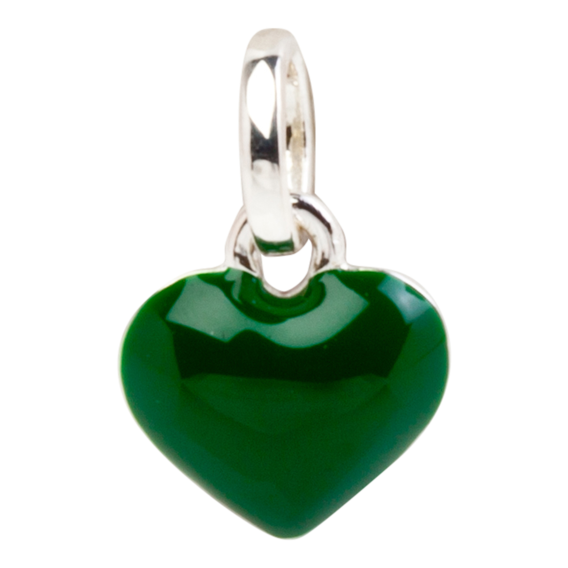 Wimbledon Mini Heart Charm in Enamel