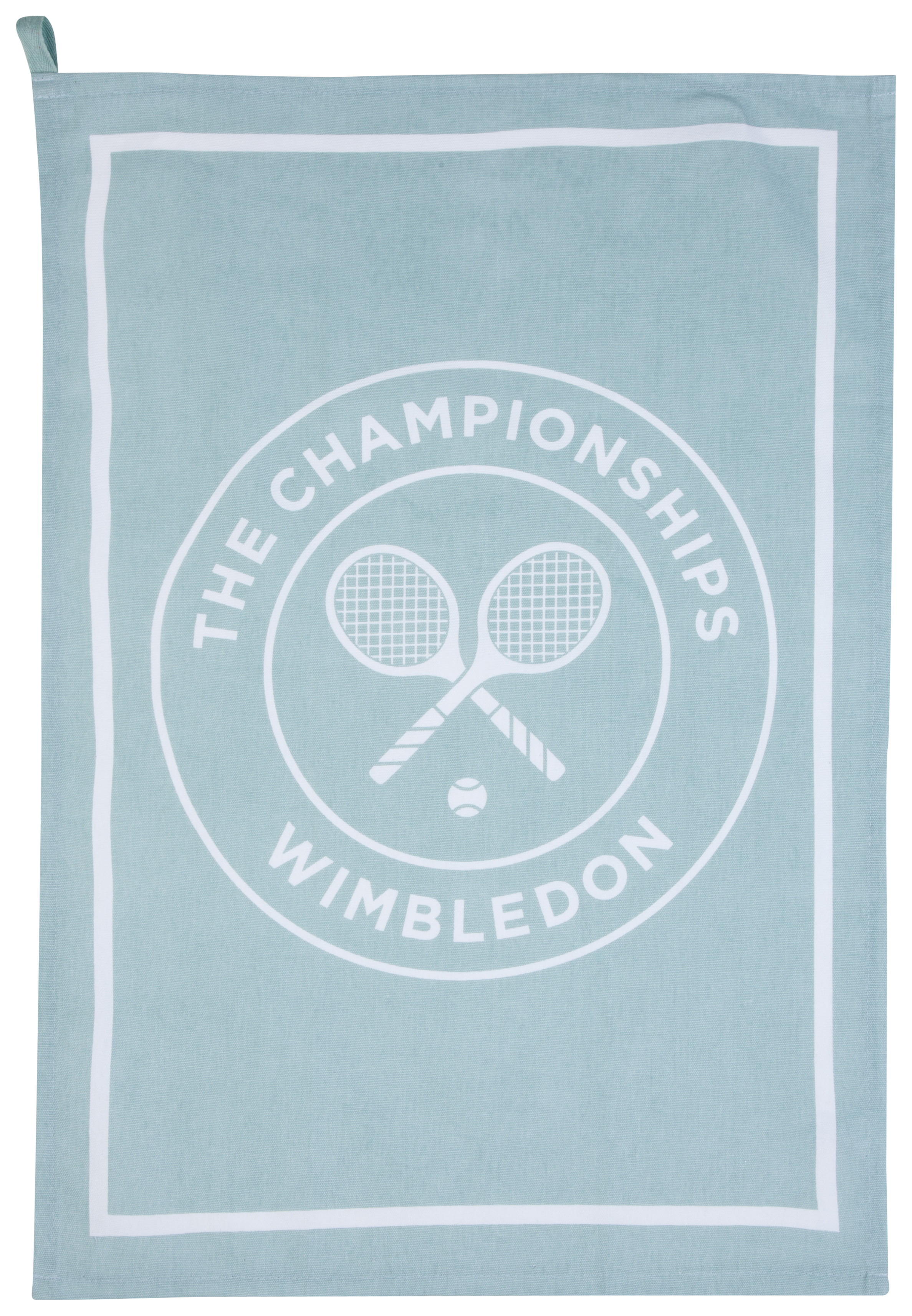 Wimbledon Logo Tea Towel - Duck Egg
