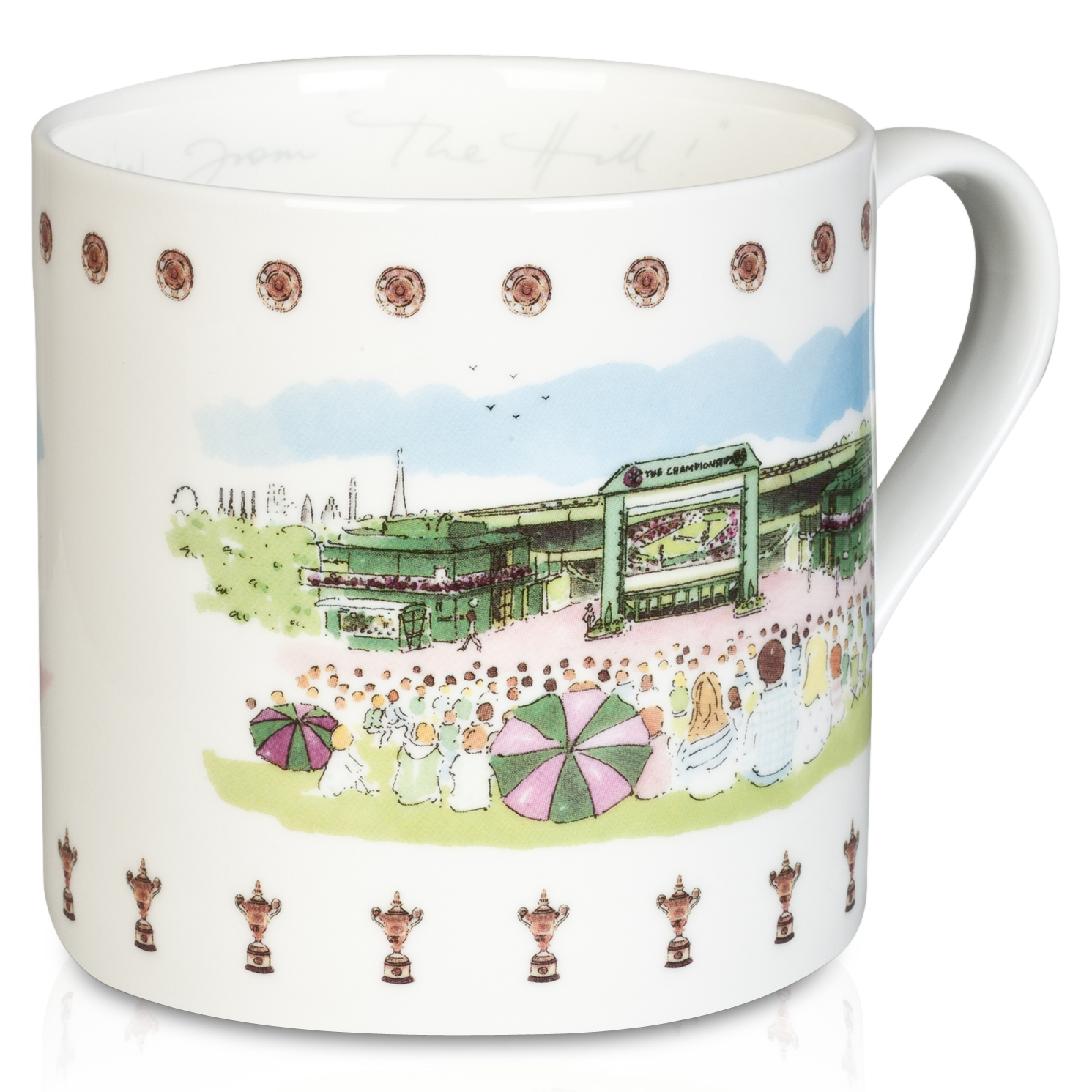 Wimbledon Mug With Hill View - Watercolour