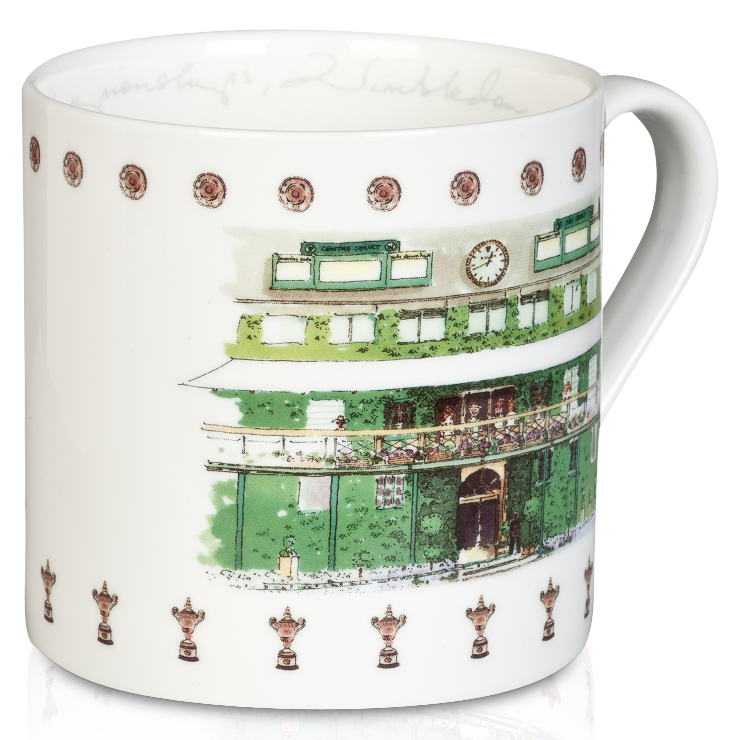 Wimbledon Mug With Clubhouse Design - Watercolour