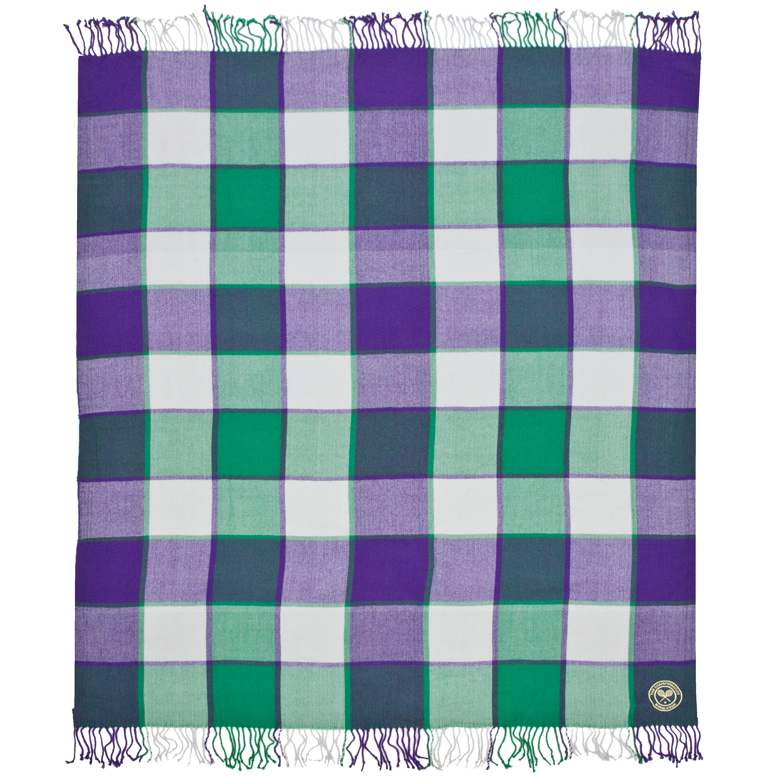 Wimbledon Picnic Throw - Purple/Green