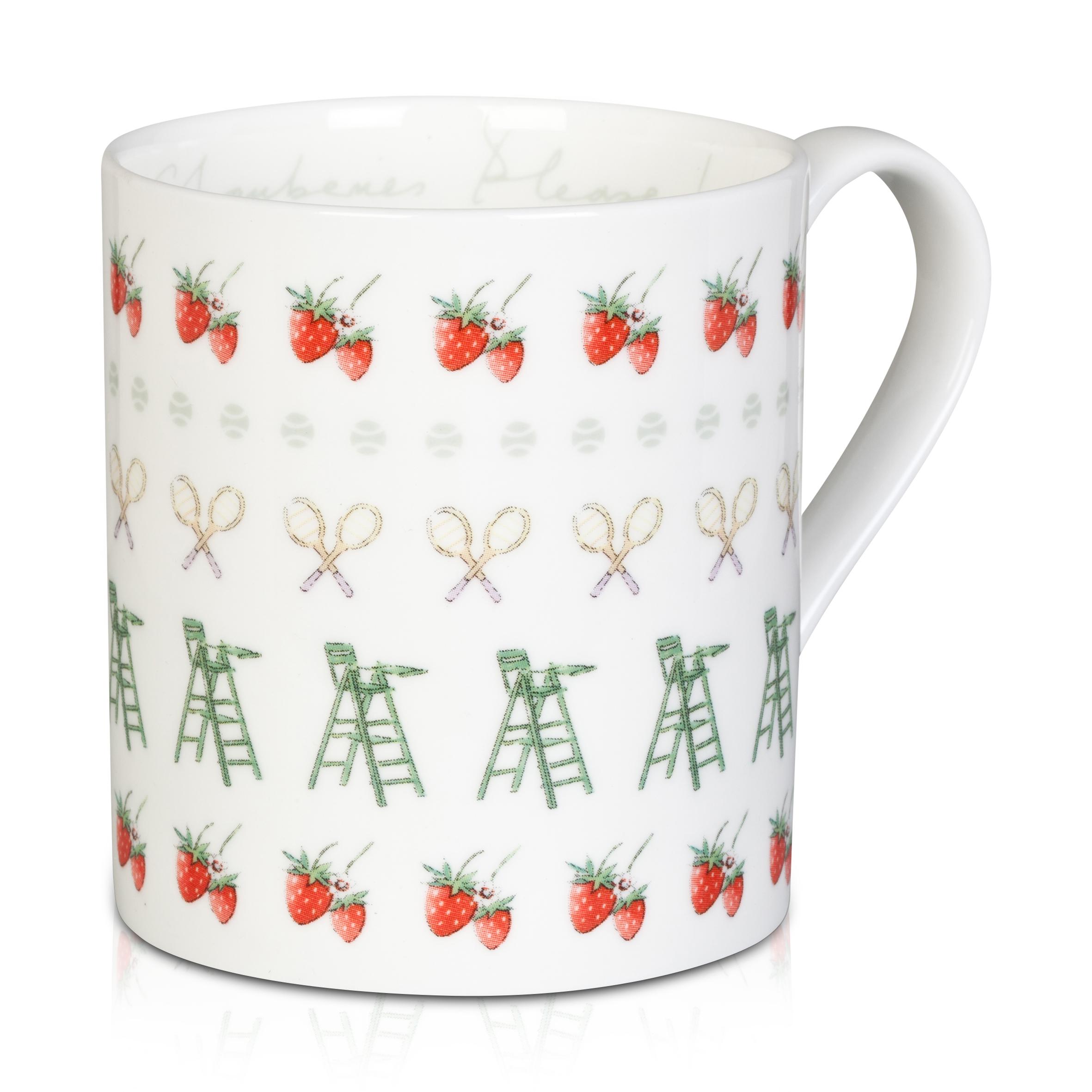 Wimbledon 'More Strawberries' Mug - White