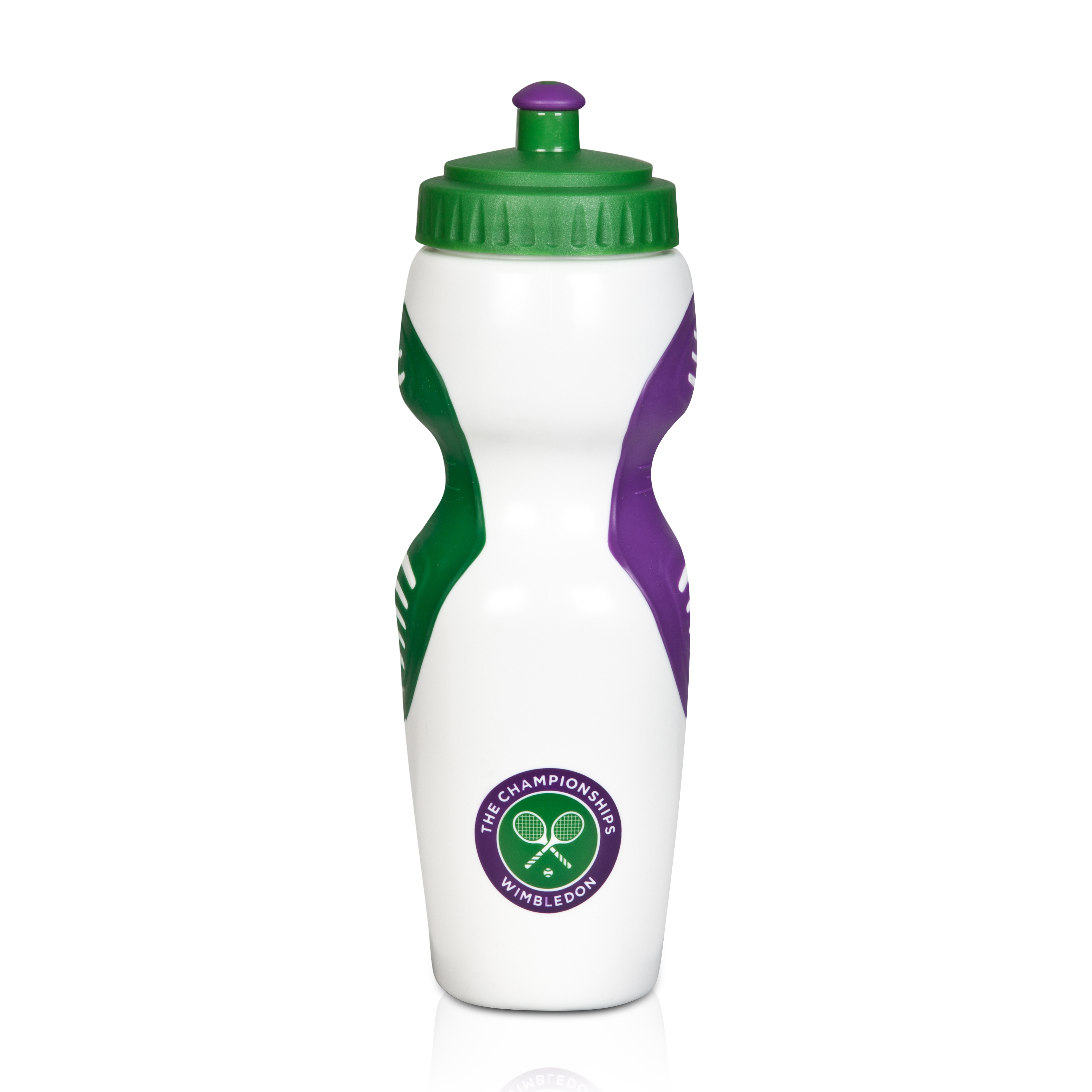 Wimbledon Plastic Sports Water Bottle - White (750ml)