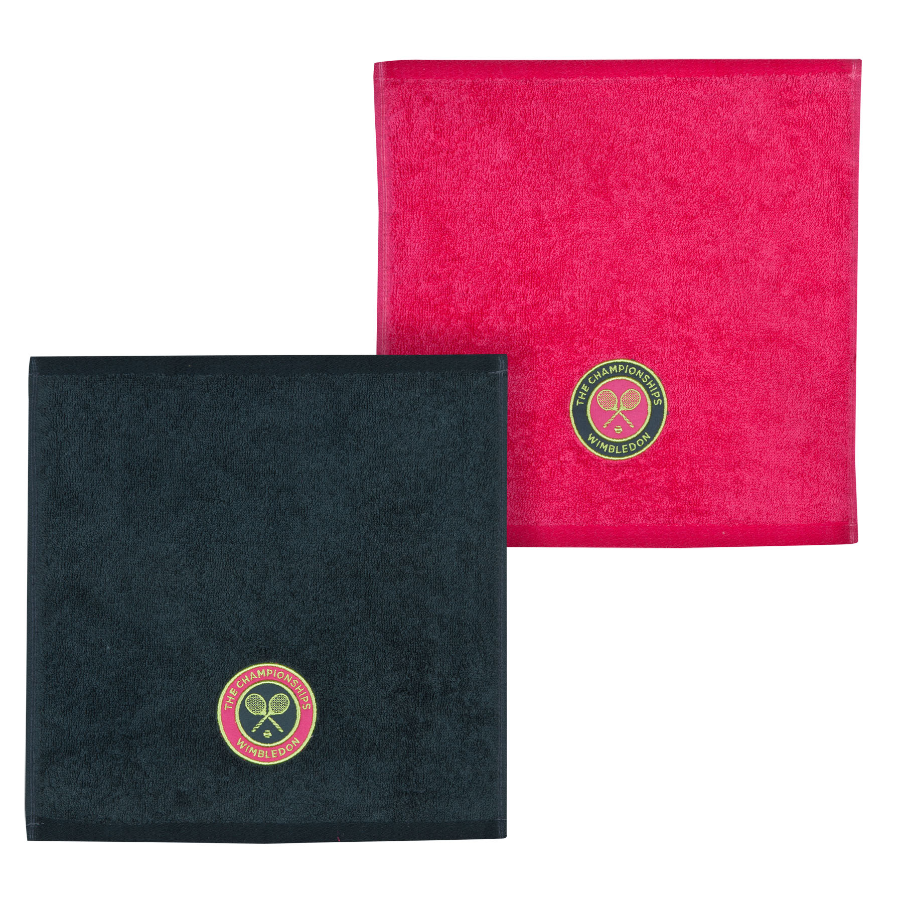 Wimbledon Ladies 2015 Face Cloth Double Pack - Pink/Charcoal