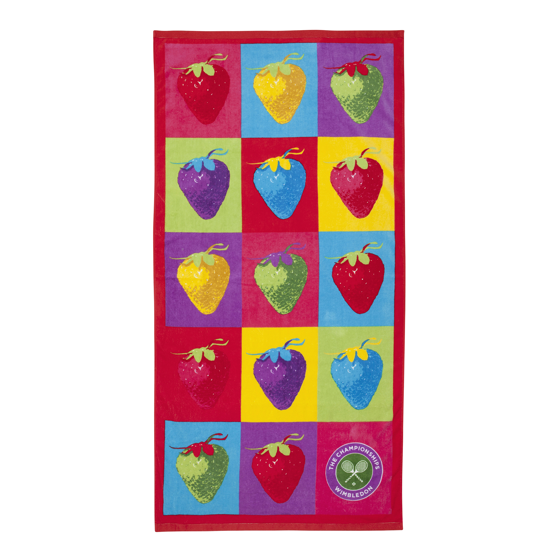 Wimbledon Strawberries Beach Towel - Multicoloured