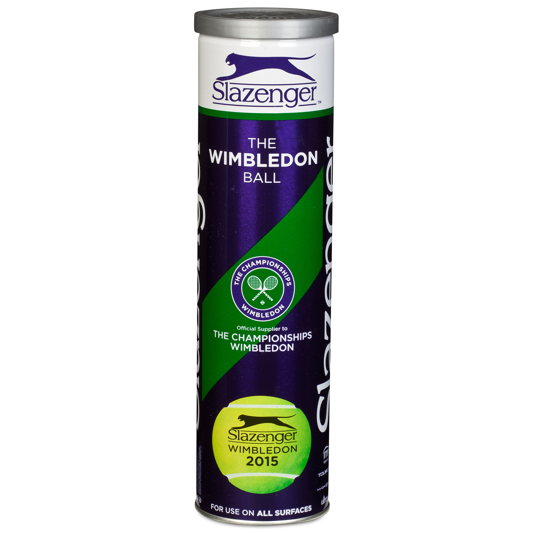Wimbledon Slazenger 2015 Tennis Ball - 4 Pack