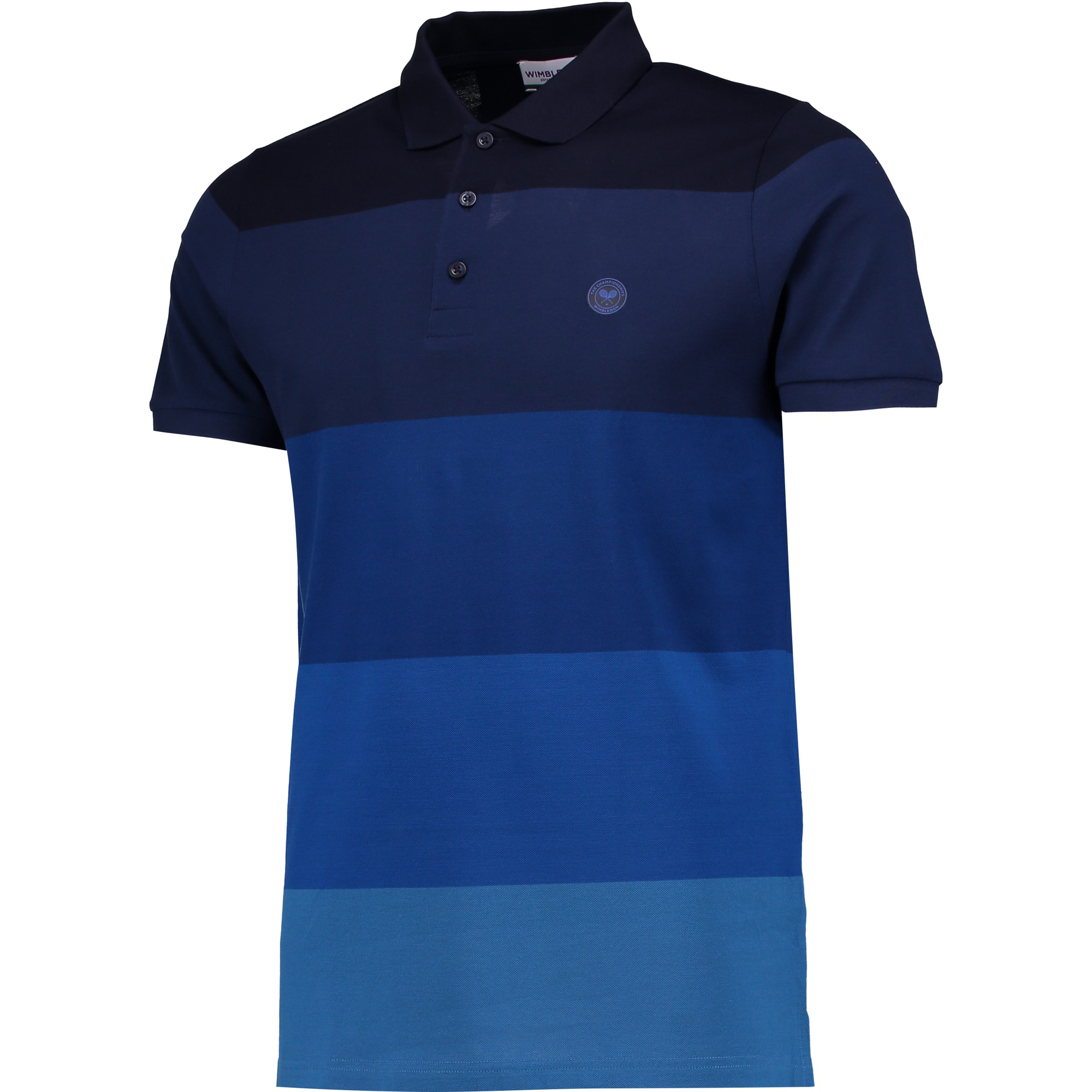 Wimbledon Ombre Polo Shirt - Midnight