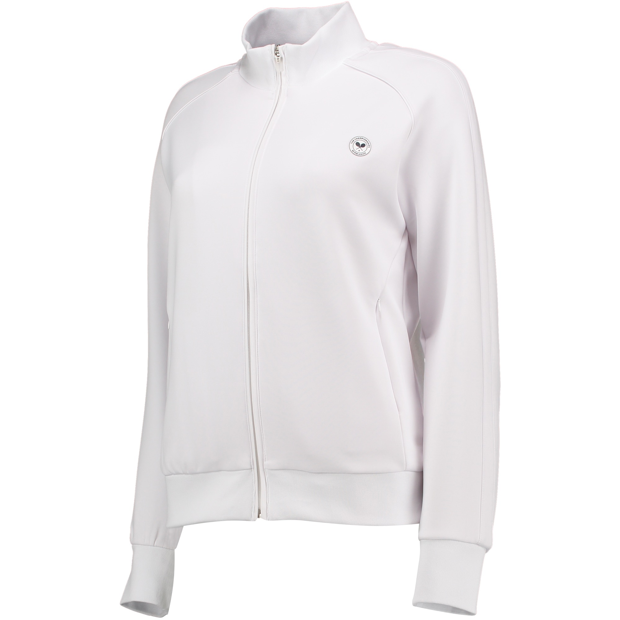 Wimbledon Technical Zip ThroughTop - White - Ladies