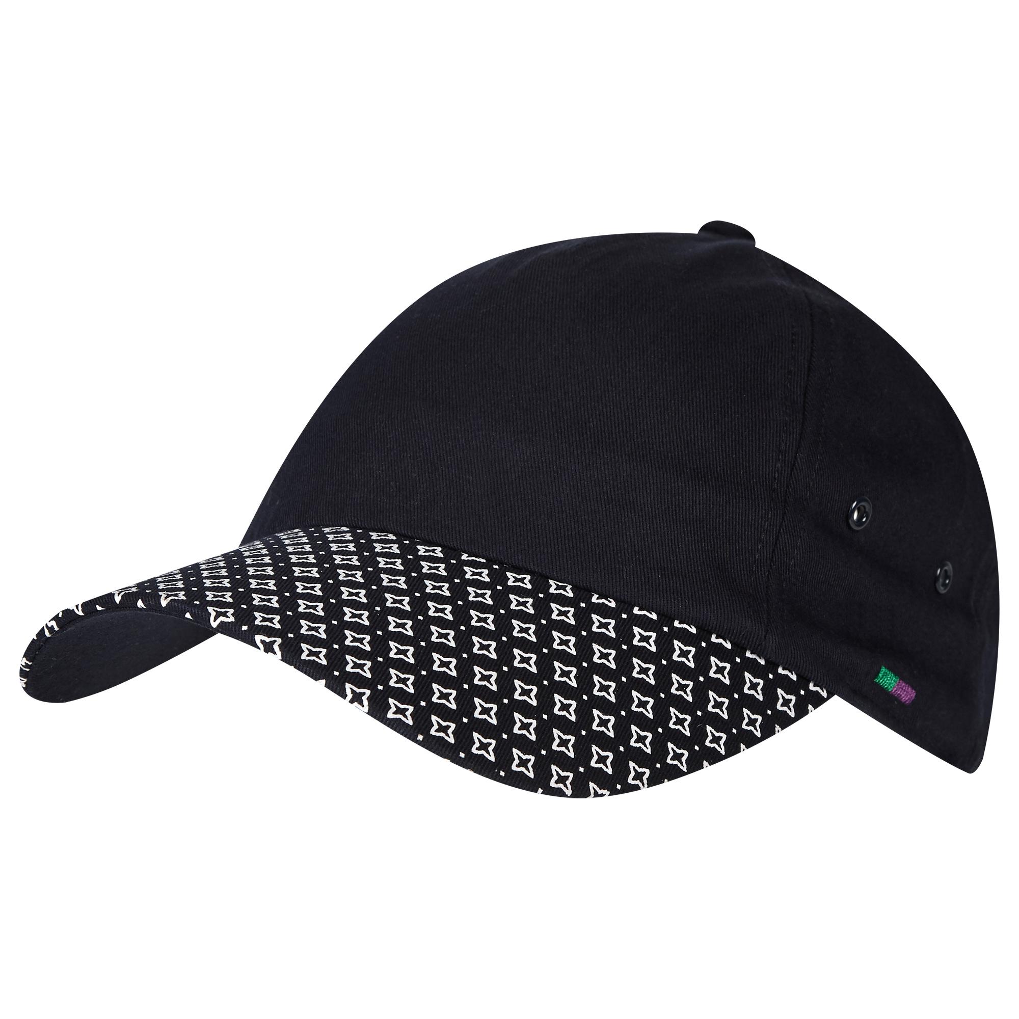 Wimbledon Printed Brim Cap - Midnight